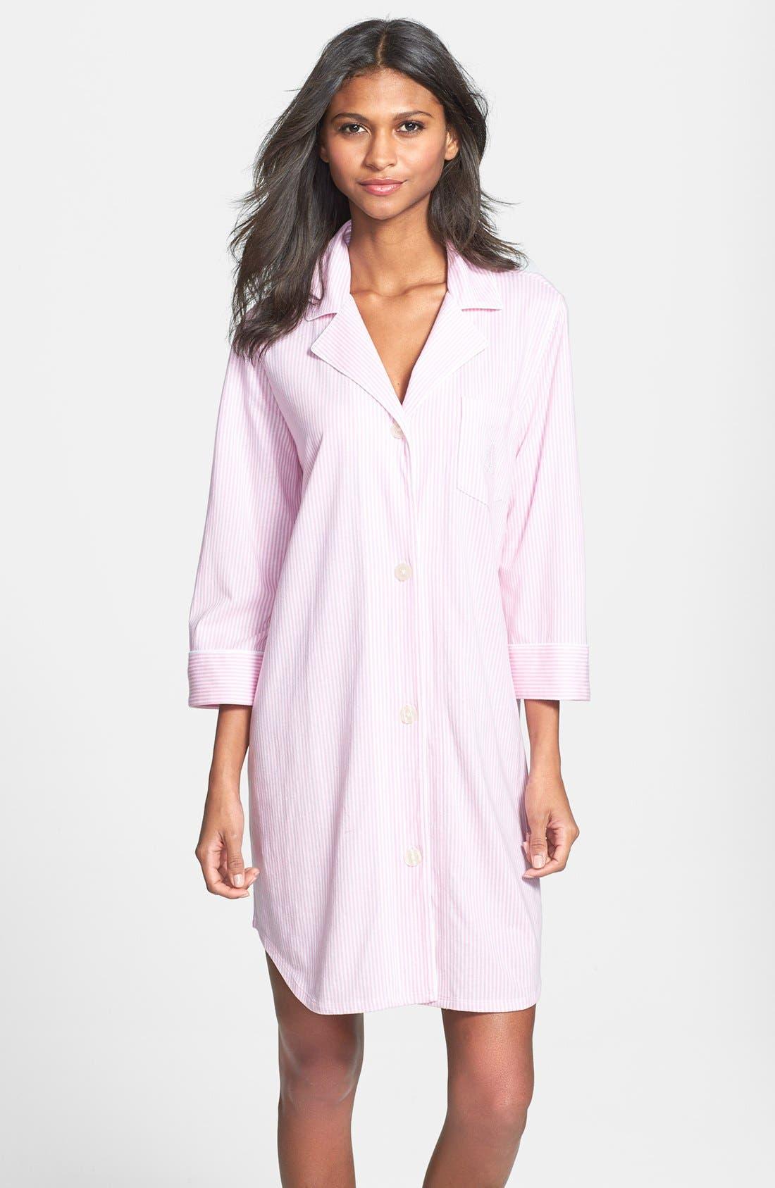 Lauren Ralph Lauren Jersey Sleep Shirt, Pink (Online Only)