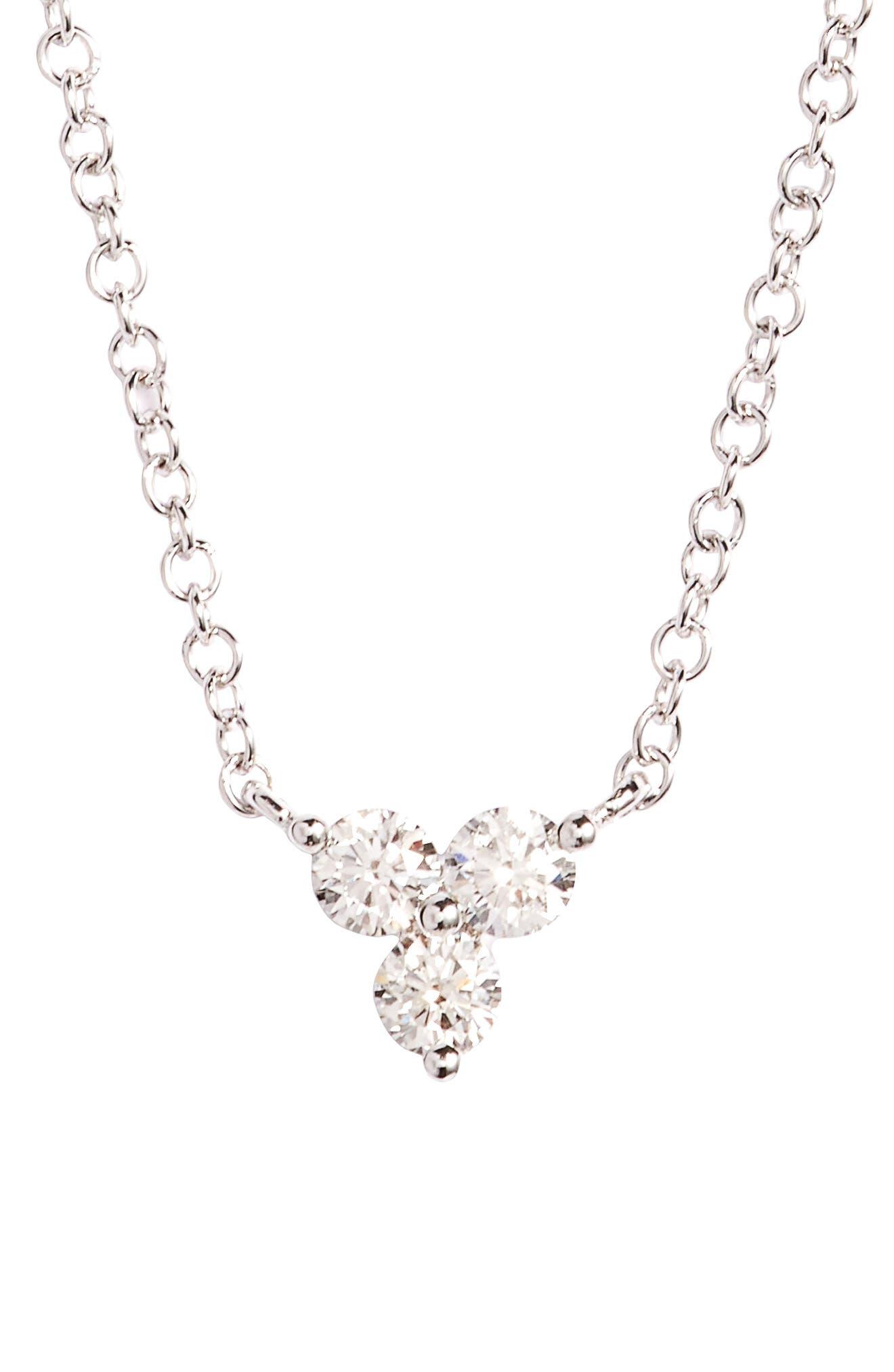 Trio Diamond Pendant Necklace,                         Main,                         color, 711