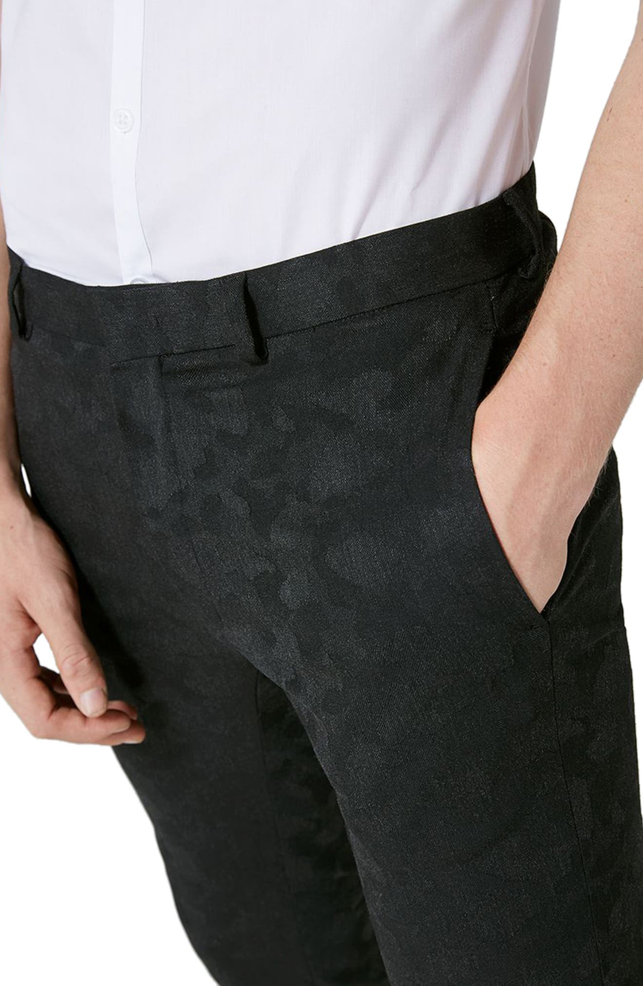 Shadow Camo Ultra Skinny Suit Trousers,                             Alternate thumbnail 3, color,
