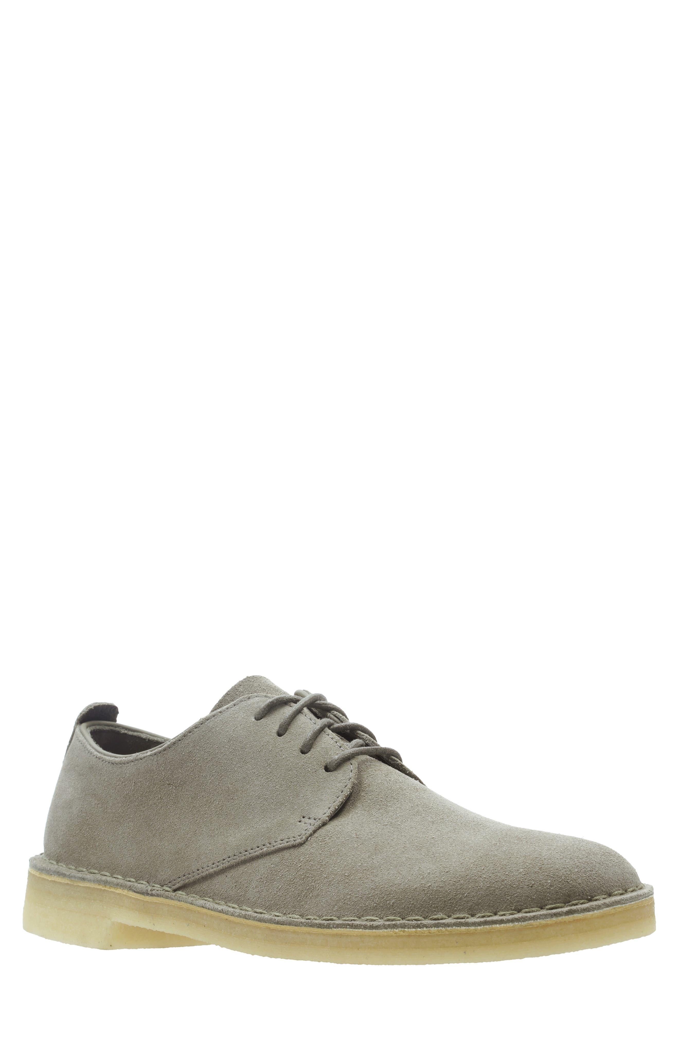 Clarks<sup>®</sup> 'Desert London' Plain Toe Derby,                         Main,                         color, GREY SUEDE
