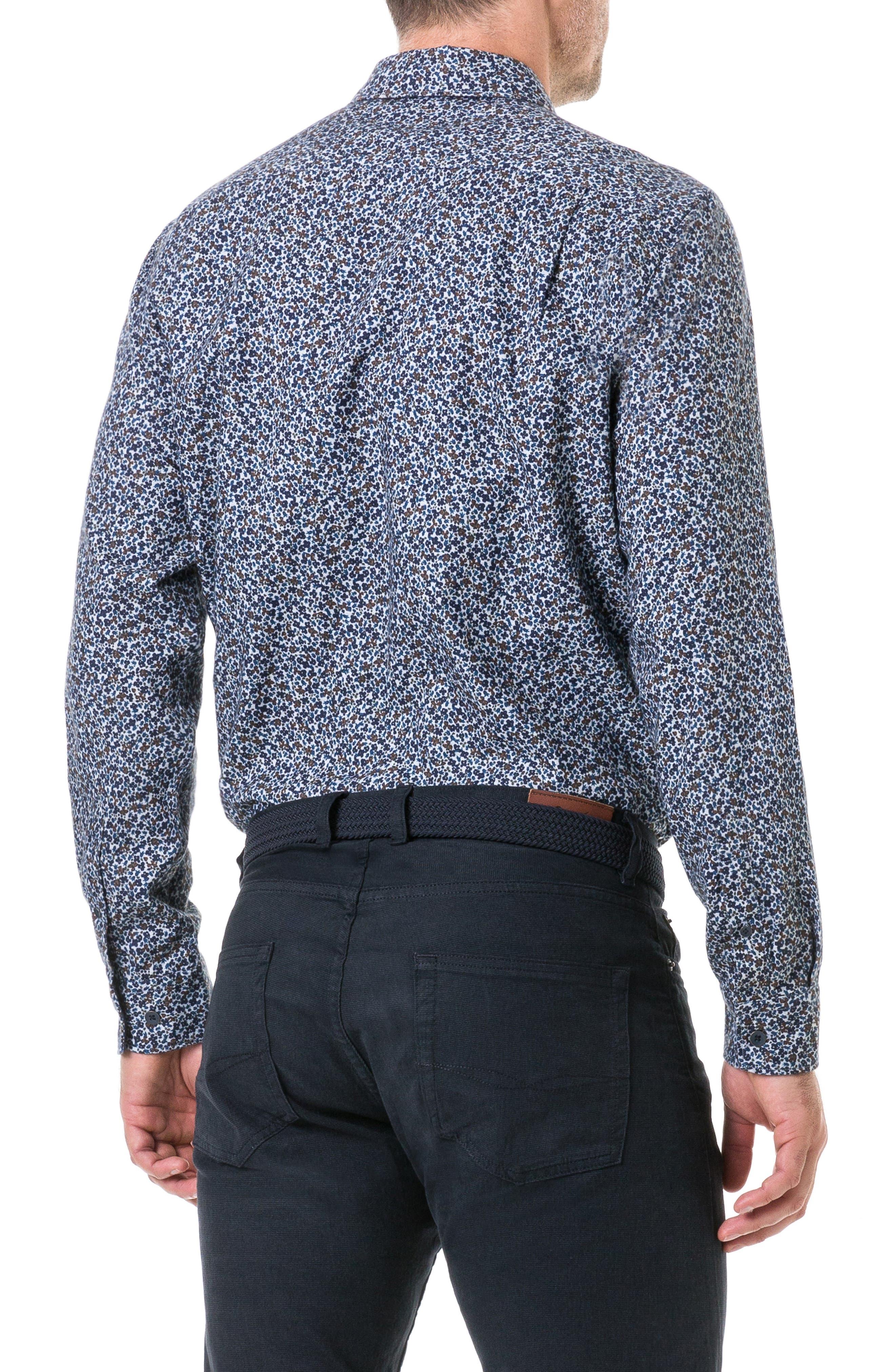Freys Crescent Regular Fit Flannel Sport Shirt,                             Alternate thumbnail 3, color,                             BLUEBERRY