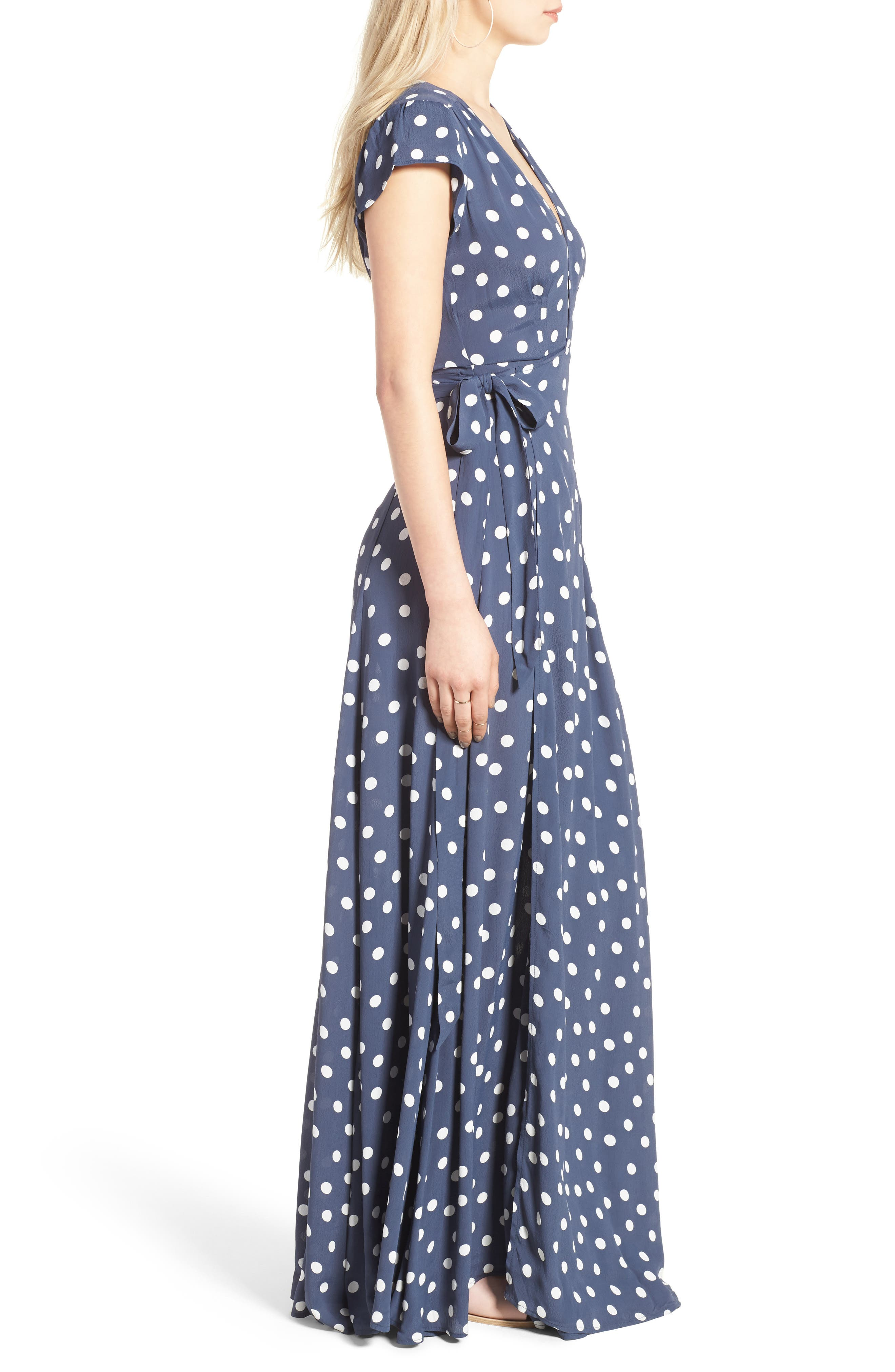 Sid Wrap Maxi Dress,                             Alternate thumbnail 3, color,                             401