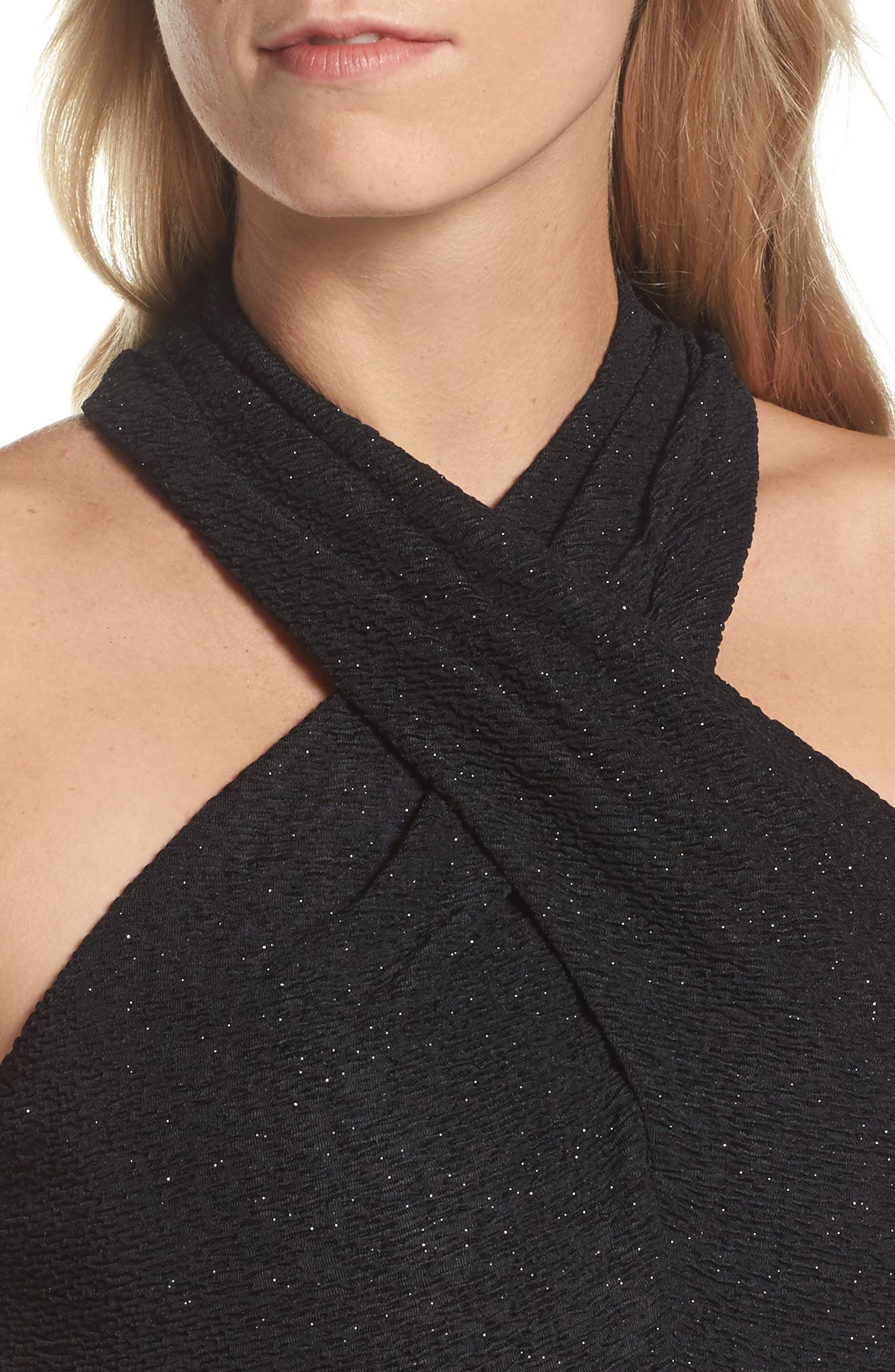 Glitter Halter Neck Sheath Dress,                             Alternate thumbnail 10, color,