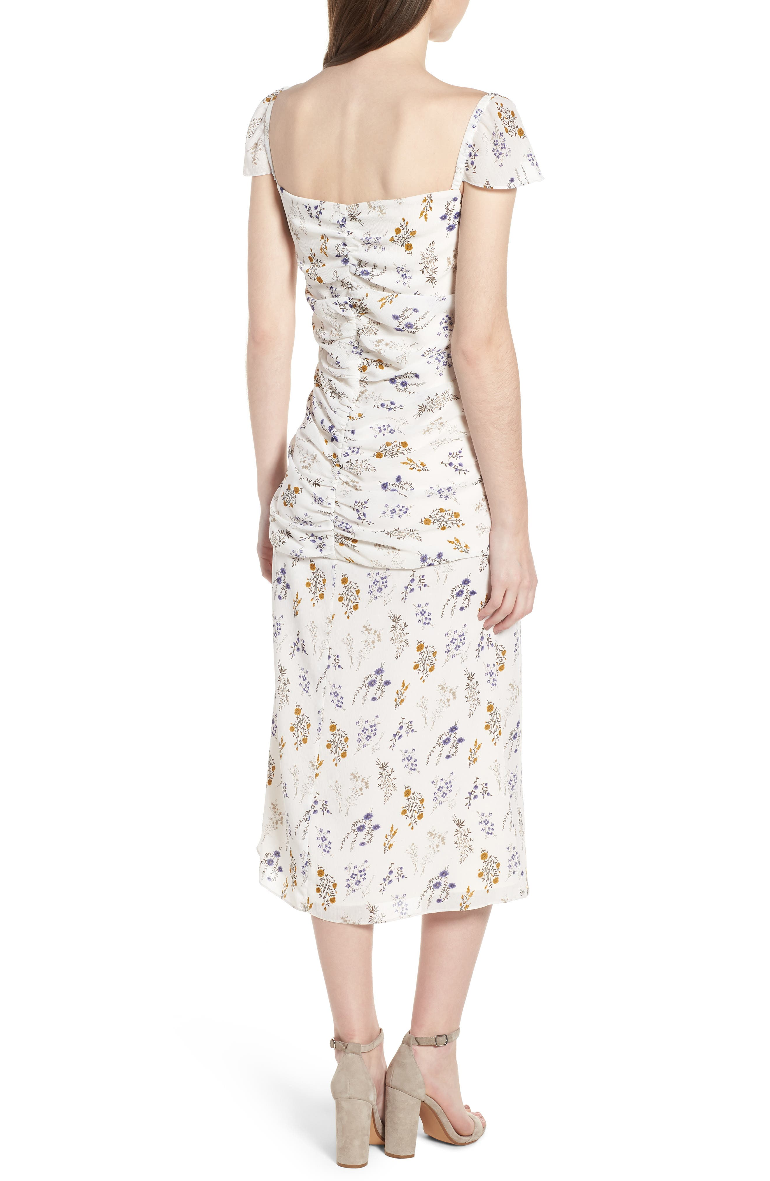 Bailey Midi Dress,                             Alternate thumbnail 2, color,                             100