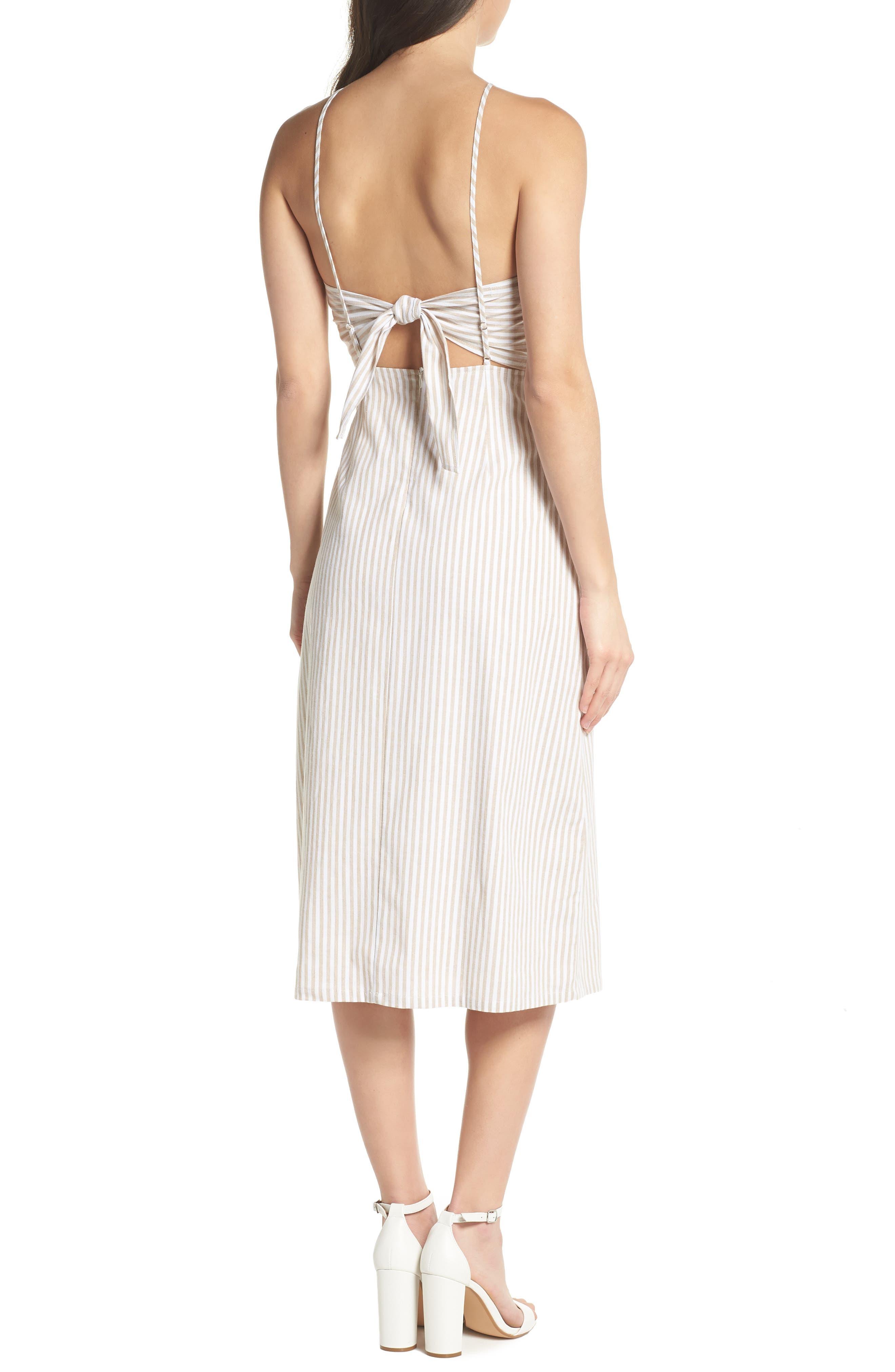 Halter Neck Midi Dress,                             Alternate thumbnail 2, color,                             250