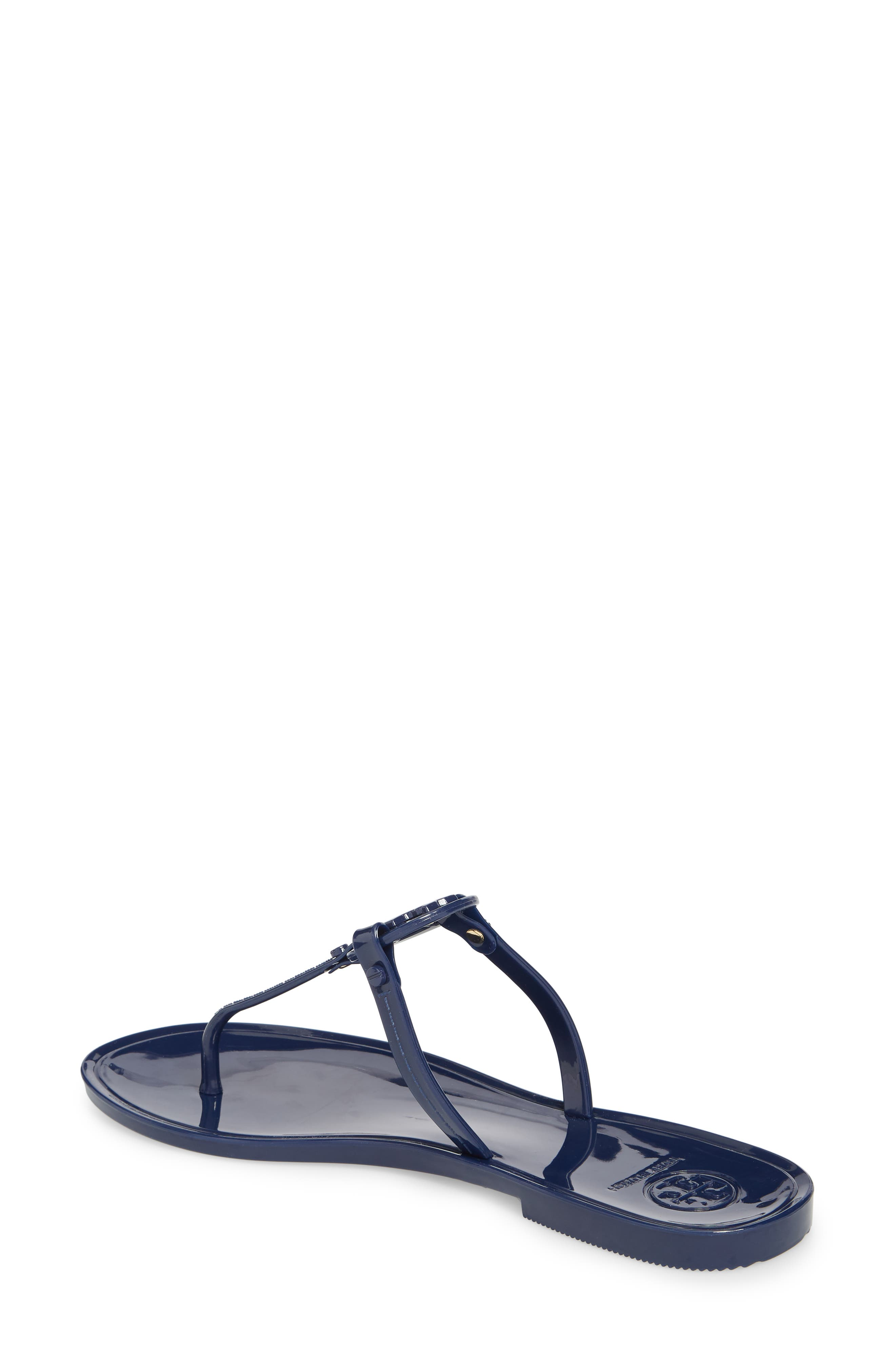 'Mini Miller' Flat Sandal,                             Alternate thumbnail 2, color,                             BRIGHT INDIGO