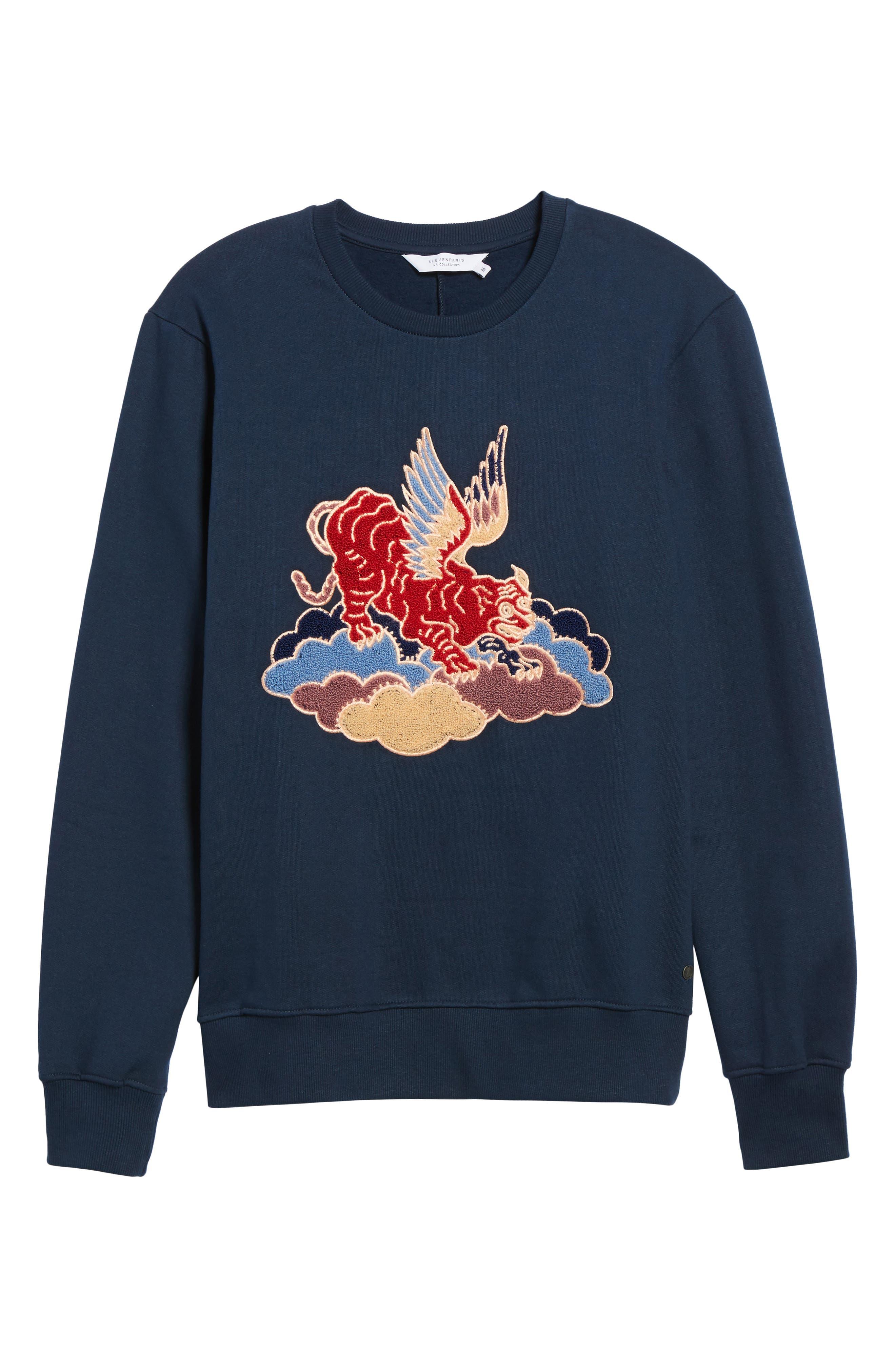 Nokat Appliqué Sweatshirt,                             Alternate thumbnail 6, color,                             018