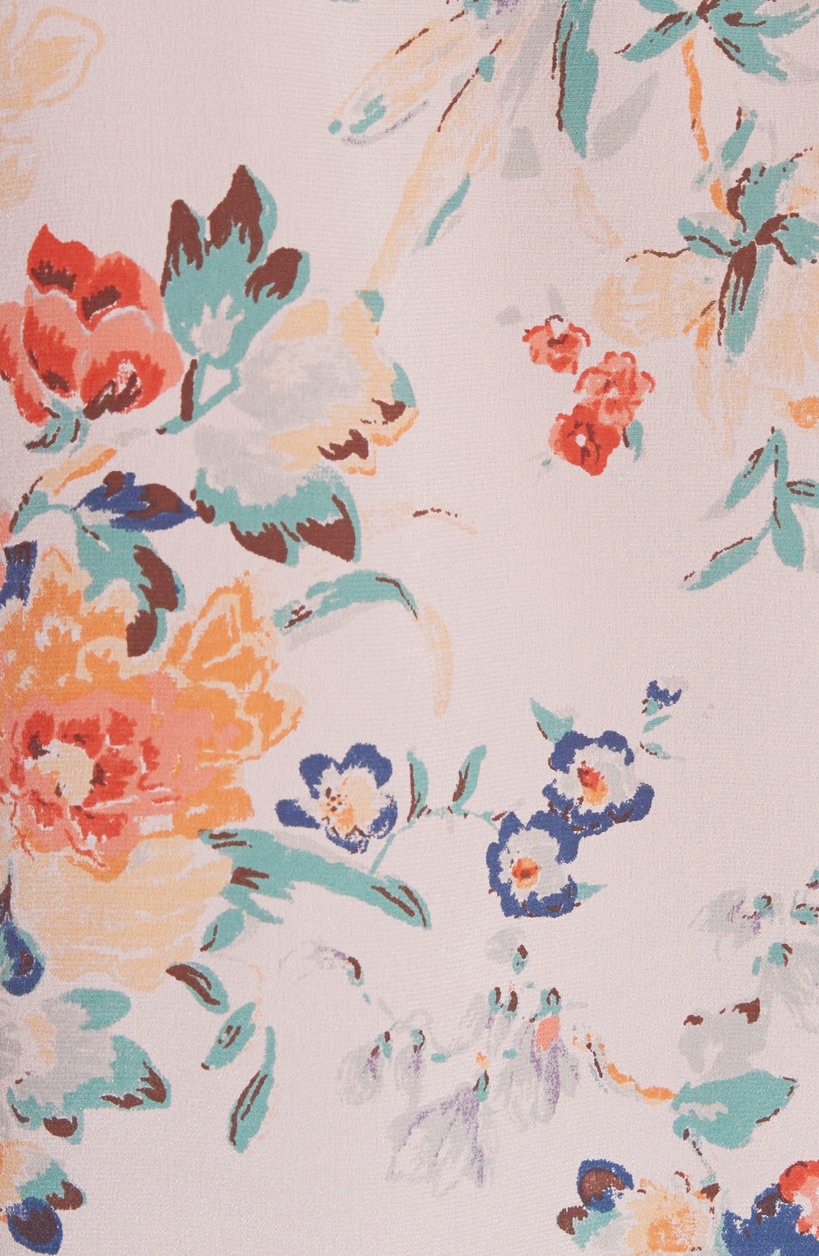 Marlena Floral Silk Blouse,                             Alternate thumbnail 5, color,