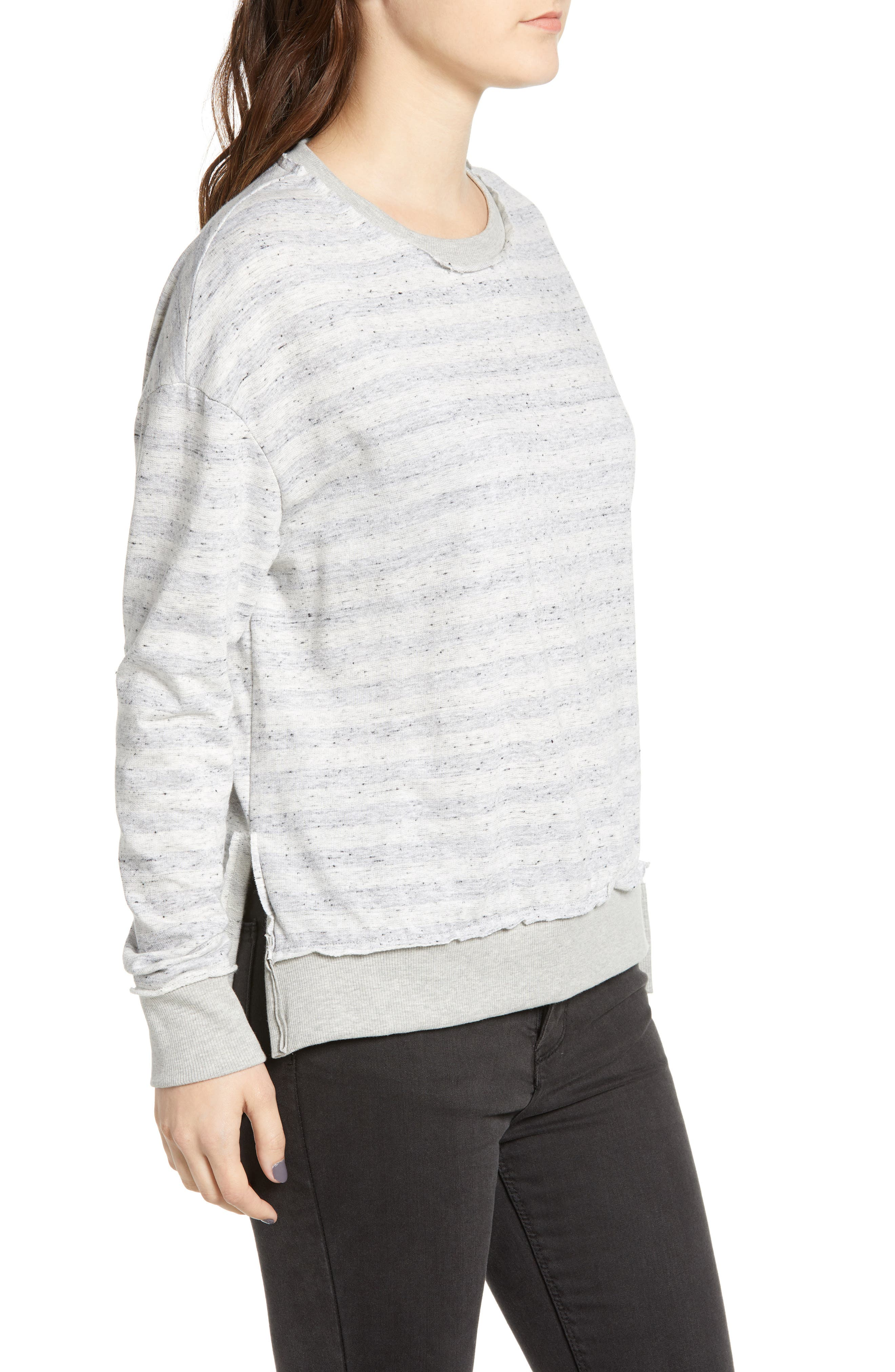 Stripe Inside Out Pullover,                             Alternate thumbnail 3, color,                             020