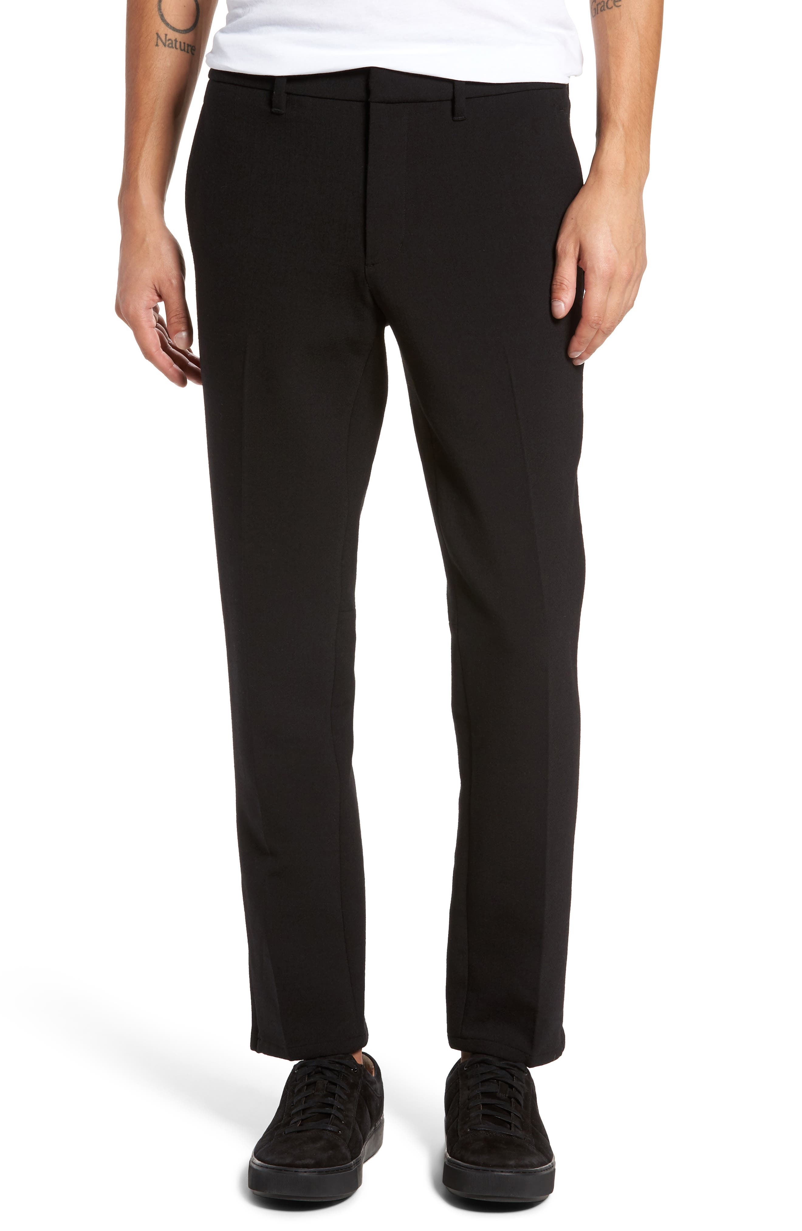 Zip Hem Slim Fit Trousers,                             Main thumbnail 1, color,
