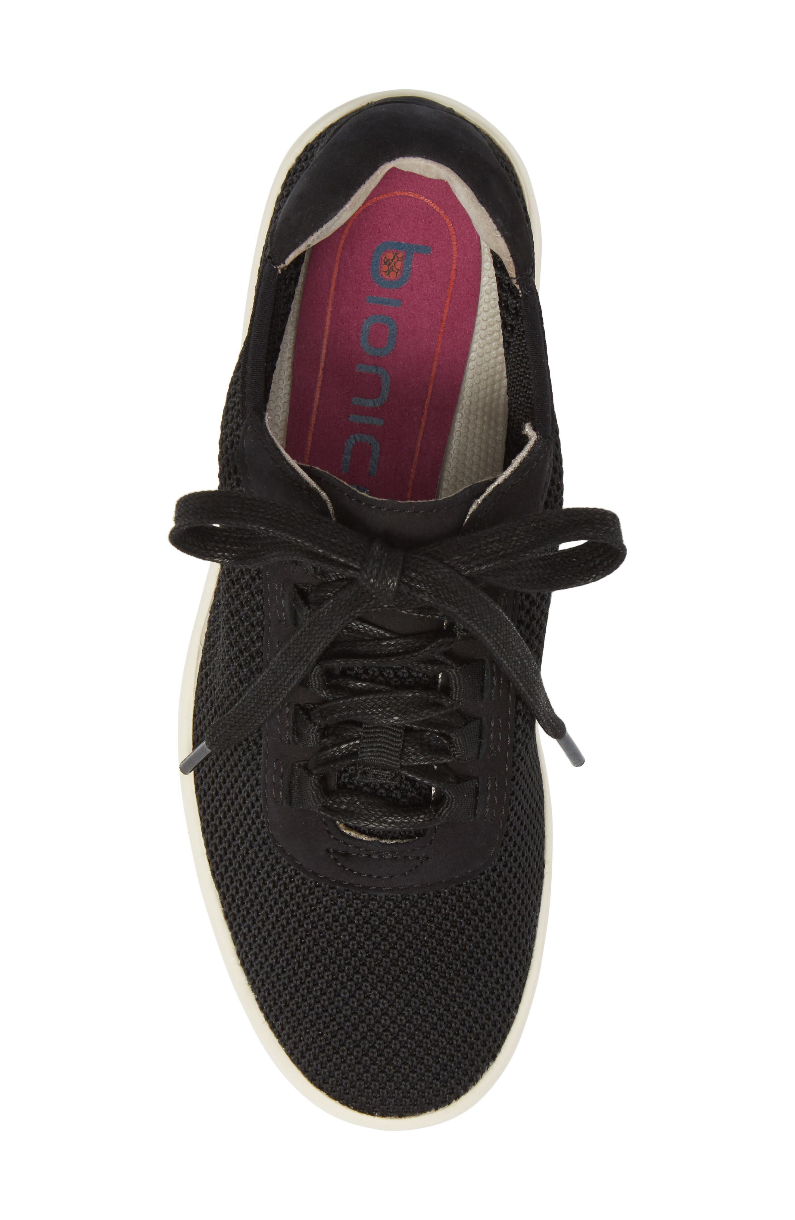 Malibu Sneaker,                             Alternate thumbnail 5, color,                             BLACK KNIT FABRIC