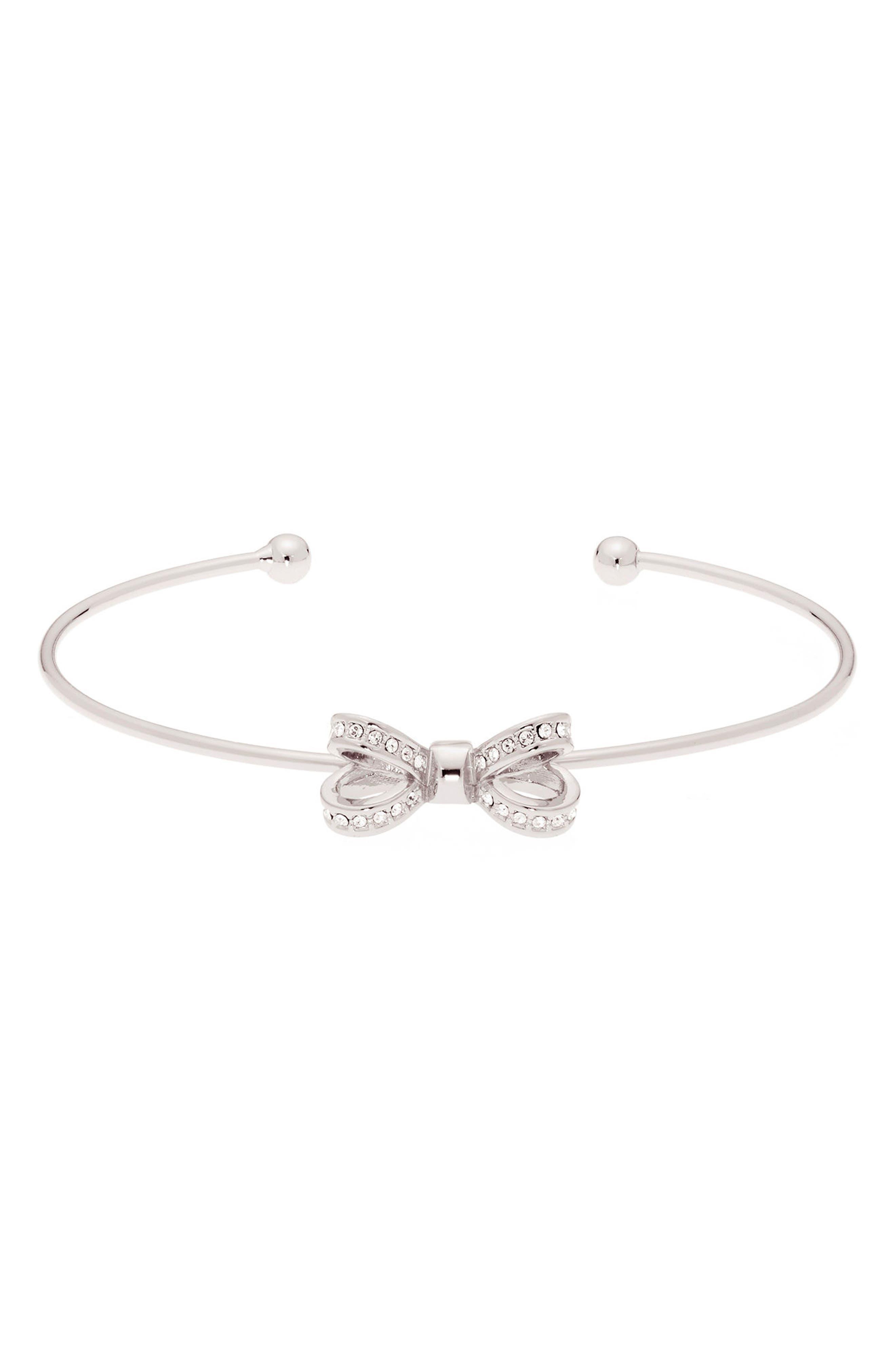 Mini Opulent Pavé Bow Cuff Bracelet,                             Main thumbnail 1, color,                             041