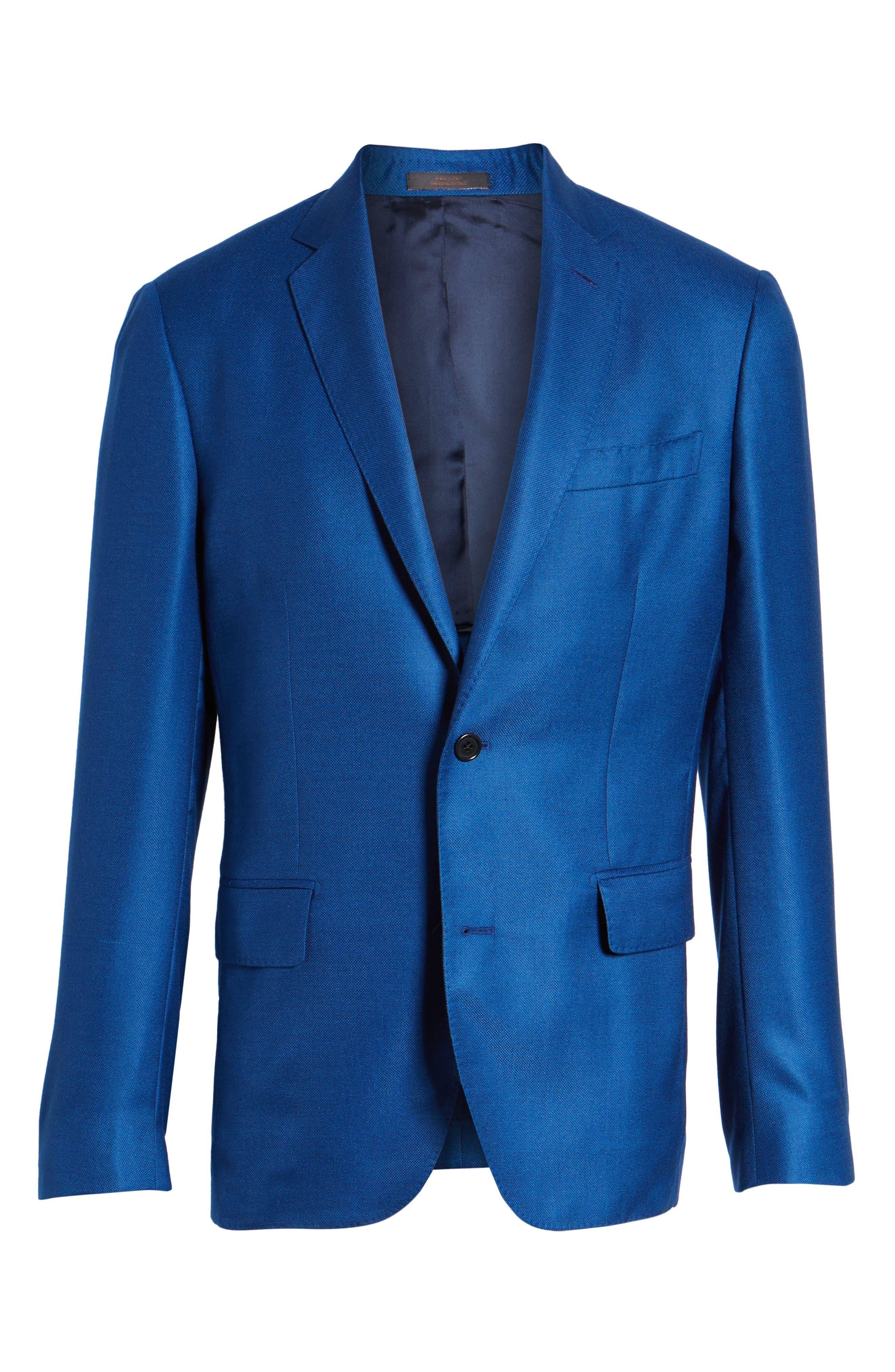Trim Fit Cashmere & Silk Blazer,                             Alternate thumbnail 19, color,