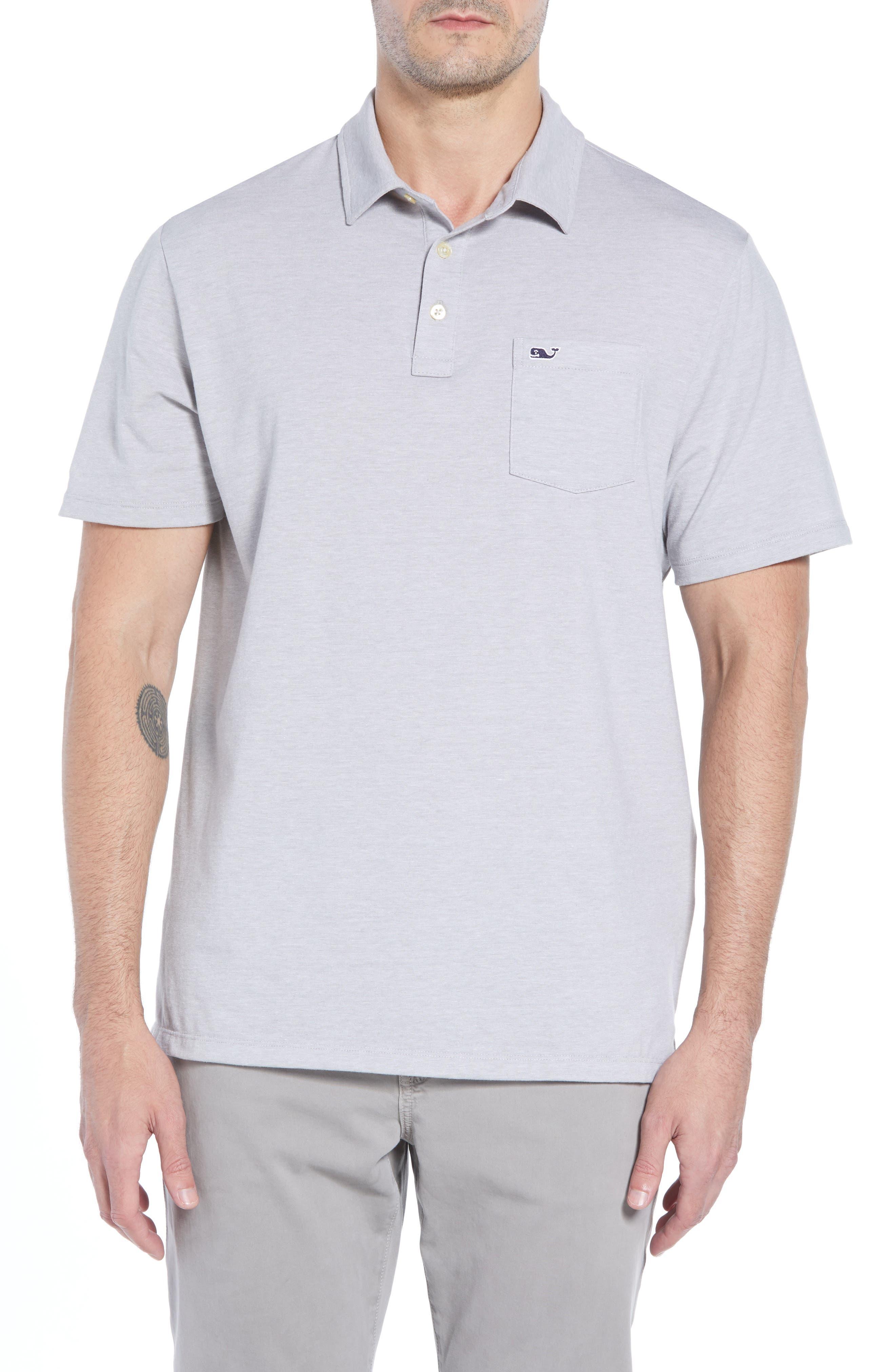 Edgartown Polo Shirt,                         Main,                         color, MONUMENT GRAY