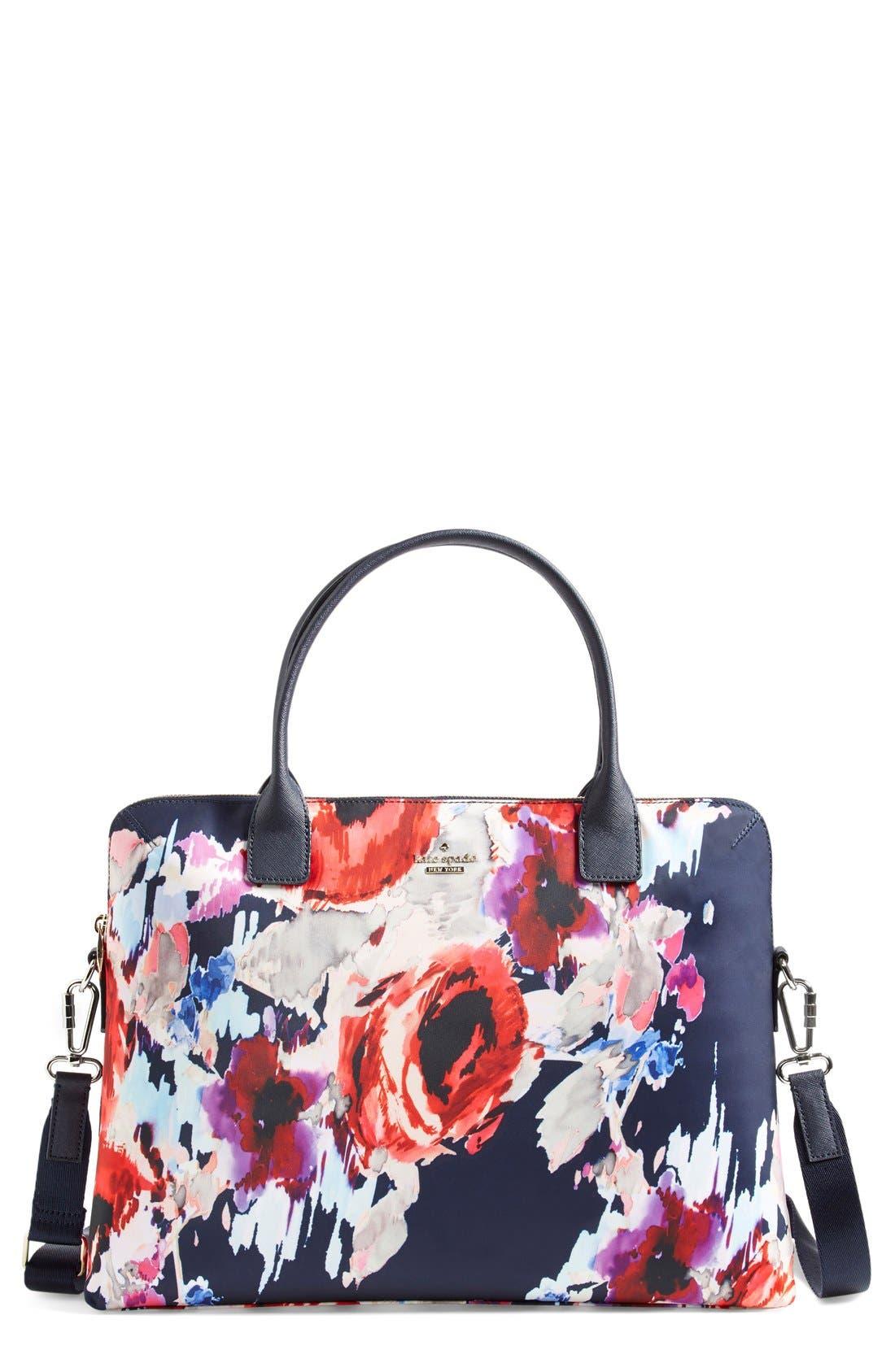 'hazy floral daveney' laptop bag,                             Main thumbnail 1, color,                             600