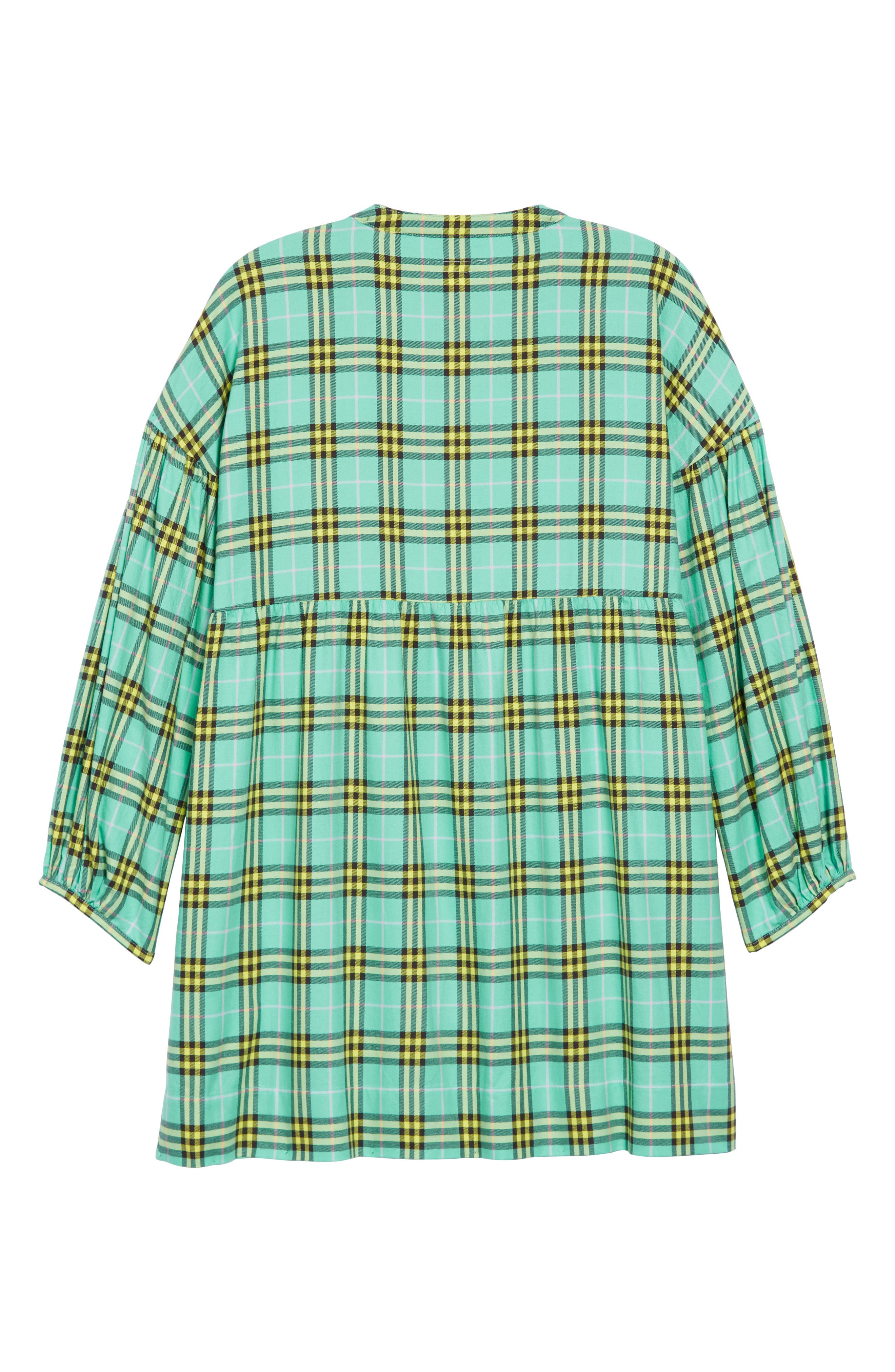 Marna Check Dress,                             Alternate thumbnail 2, color,                             BR TURQUOISE IP CHK