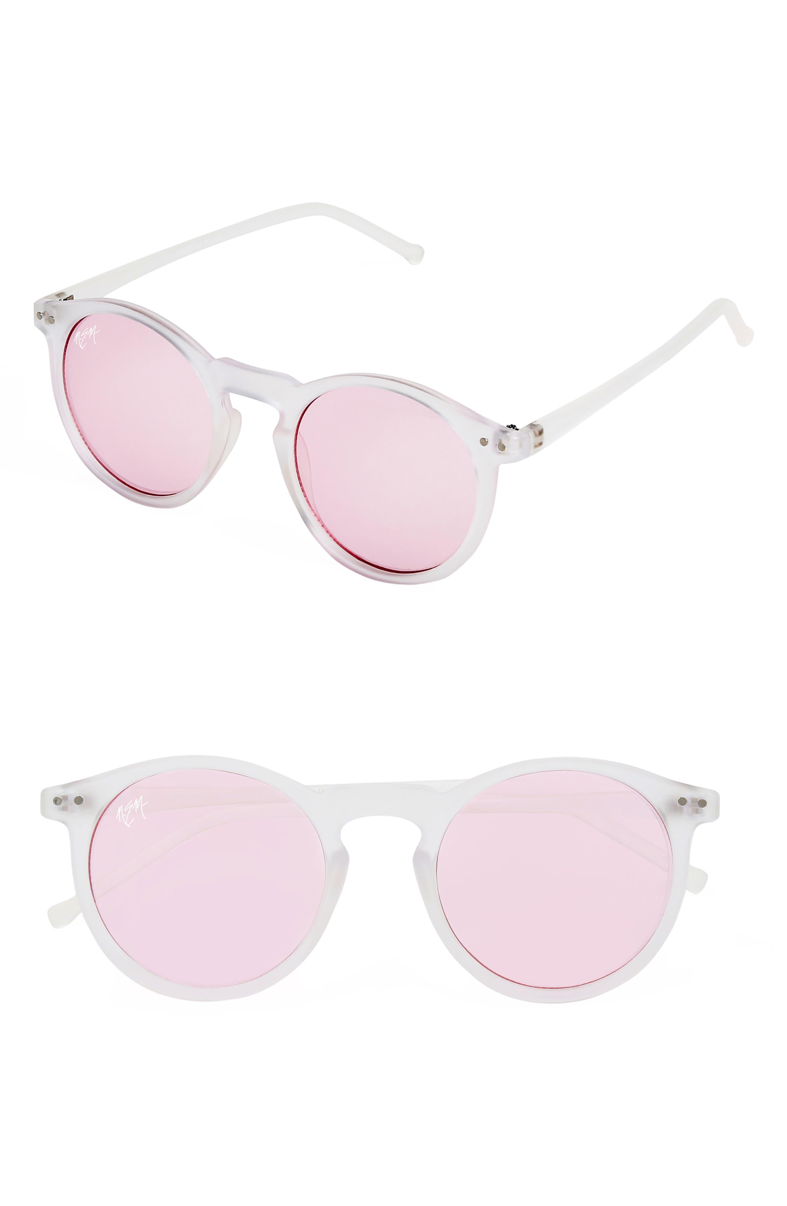 Nem 50Mm Mirrored Round Sunglasses -