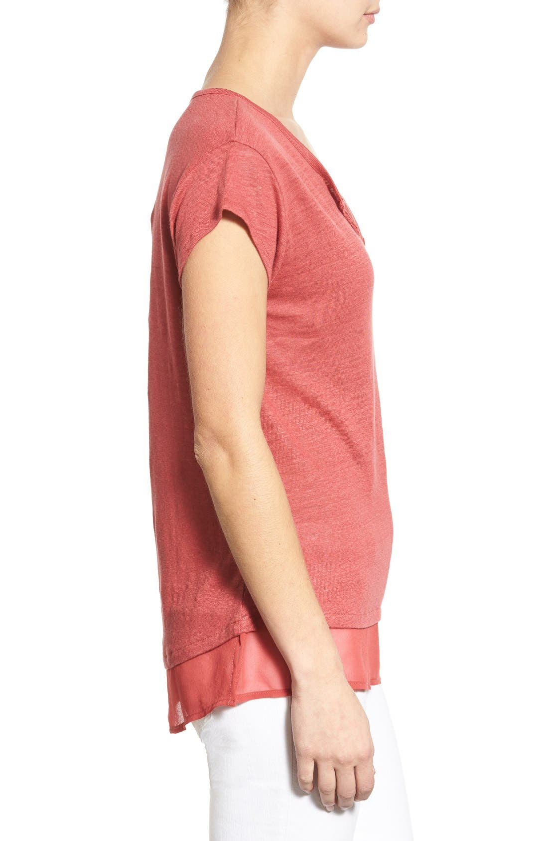 City Mix Layered Look Tee,                             Alternate thumbnail 75, color,