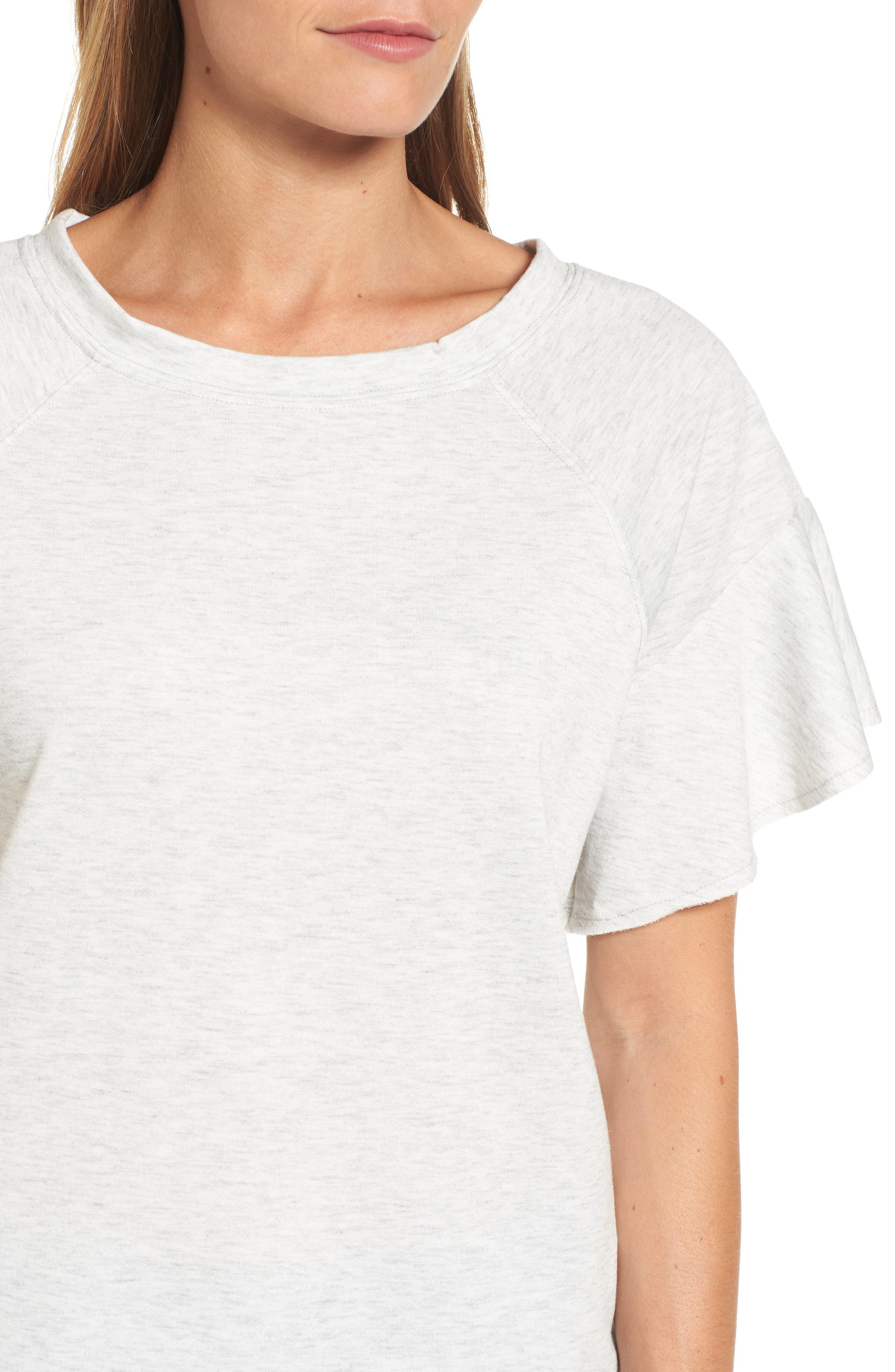Ruffle Sleeve Sweatshirt,                             Alternate thumbnail 13, color,