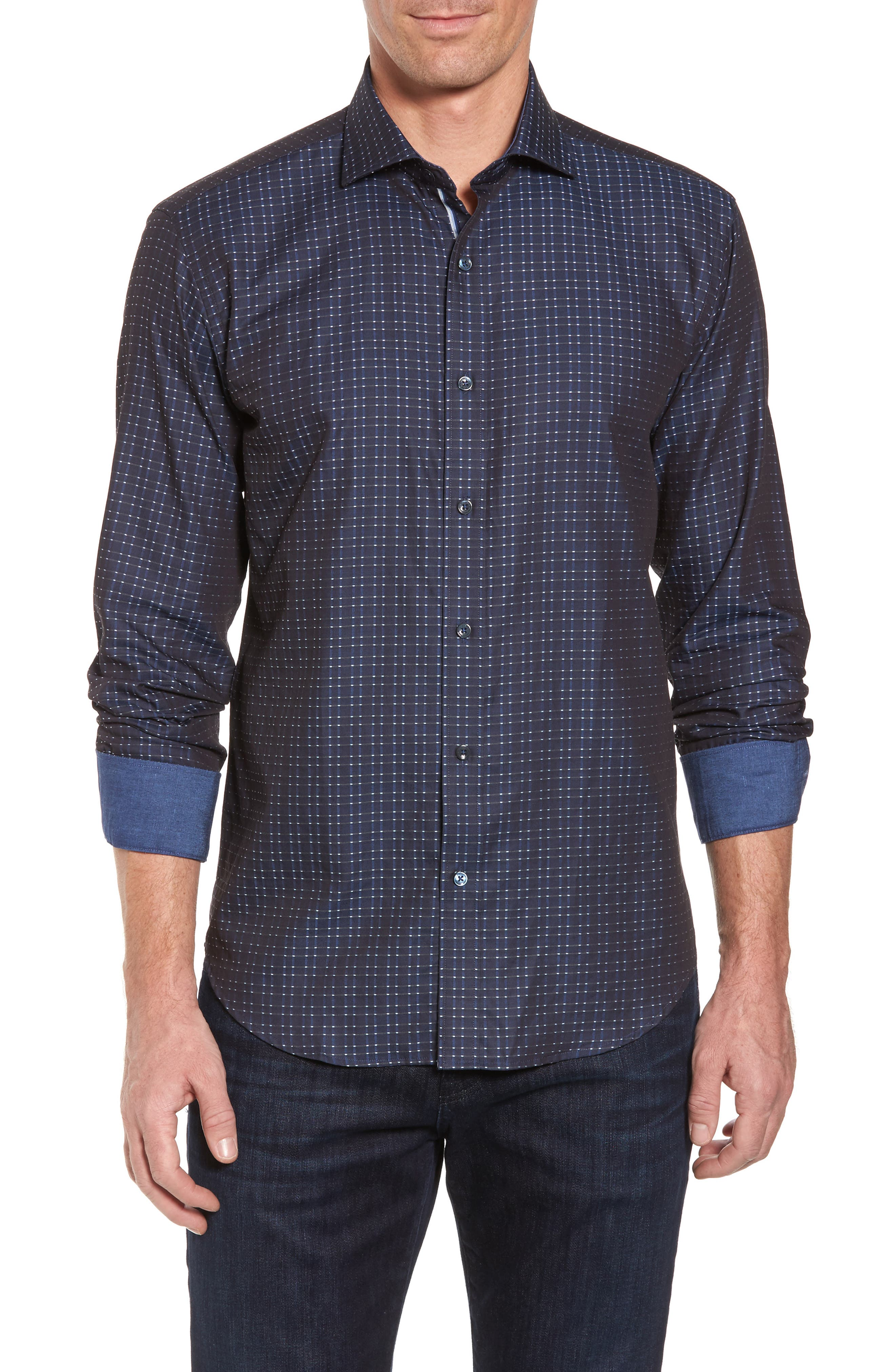 Shaped Fit Sport Shirt,                         Main,                         color, 410