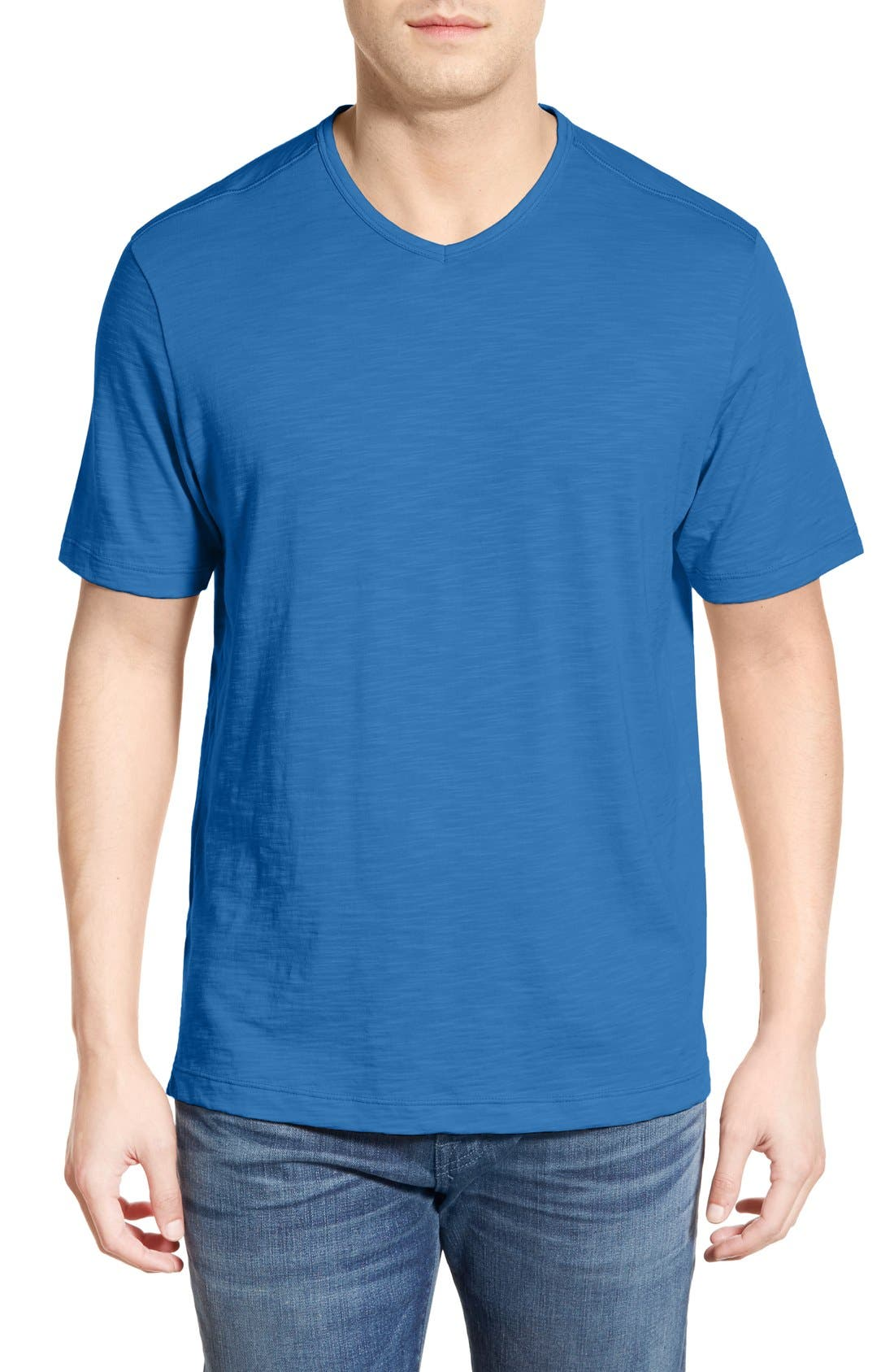 'Portside Player' Pima Cotton T-Shirt,                             Main thumbnail 1, color,                             401