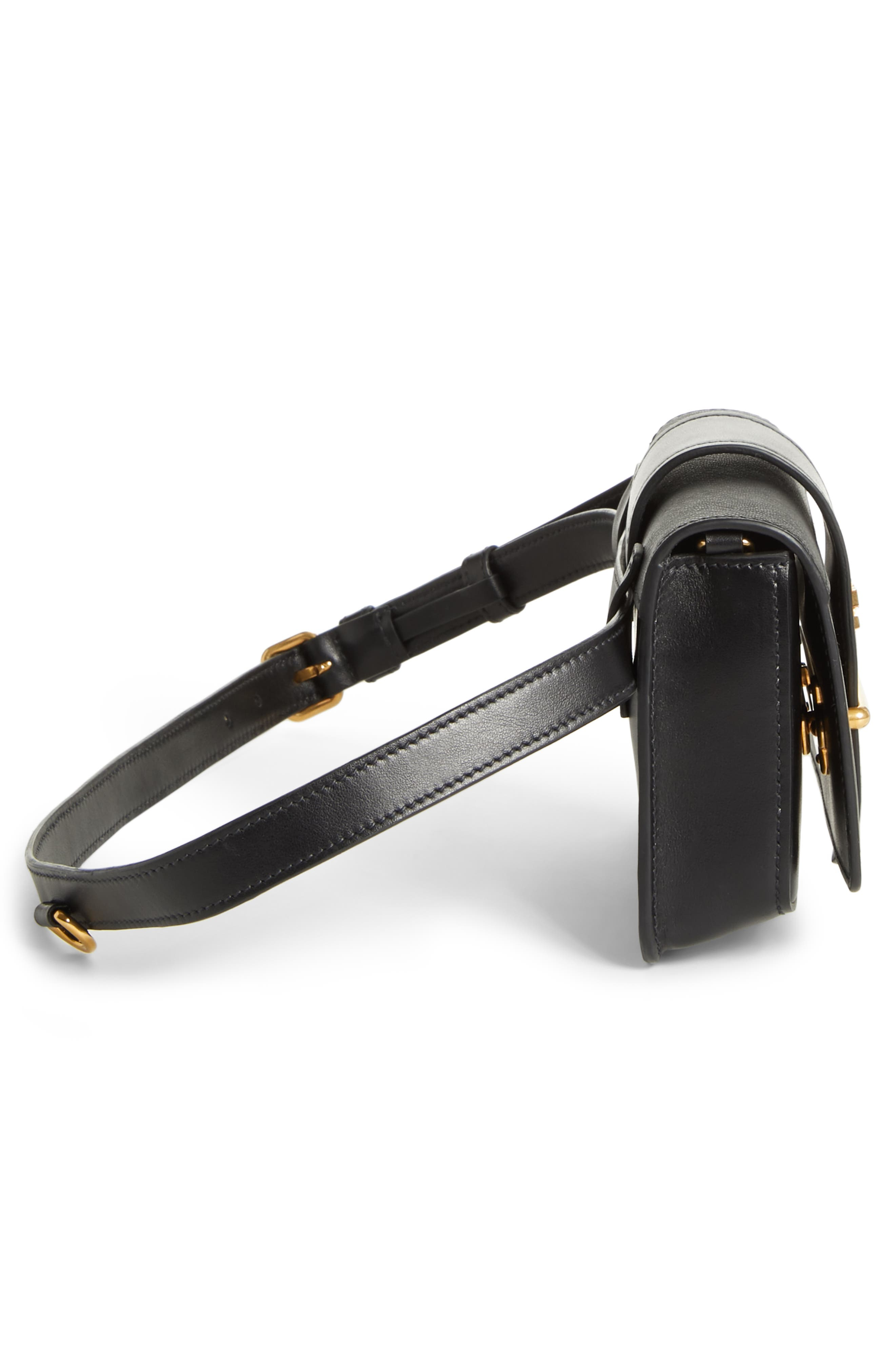 Cahier Calfskin Leather Convertible Belt Bag,                             Alternate thumbnail 2, color,                             001