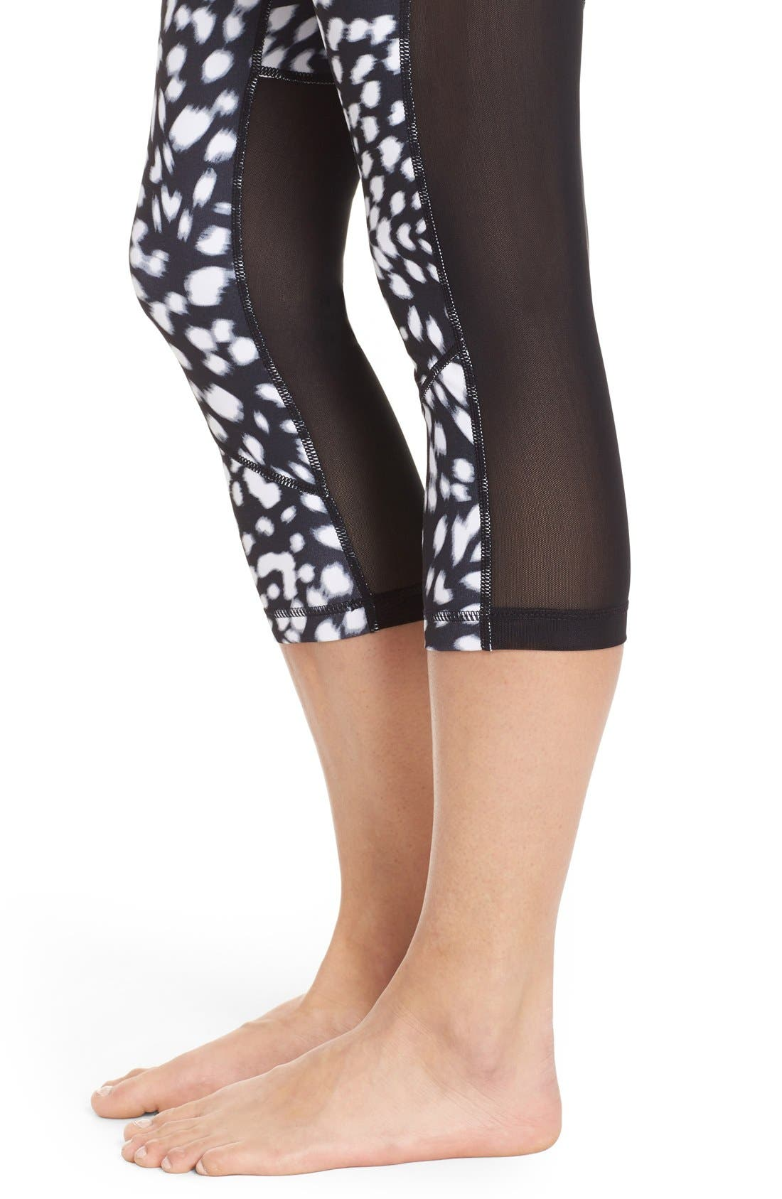 'Live In - Sultry' High Waist Mesh Crop Leggings,                             Alternate thumbnail 36, color,