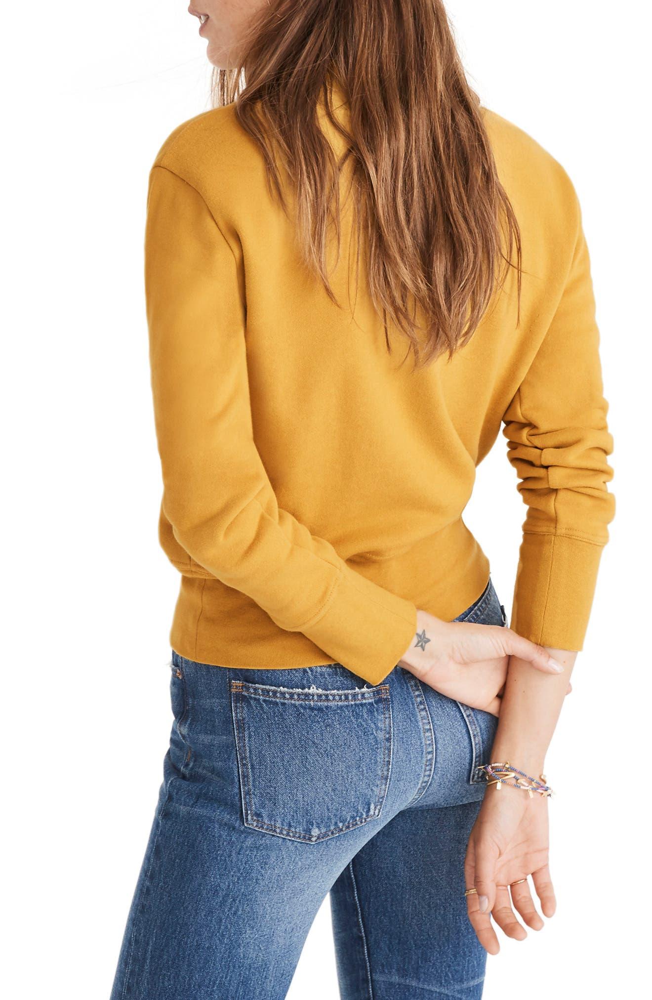 Turtleneck Sweatshirt,                             Alternate thumbnail 2, color,                             NECTAR GOLD