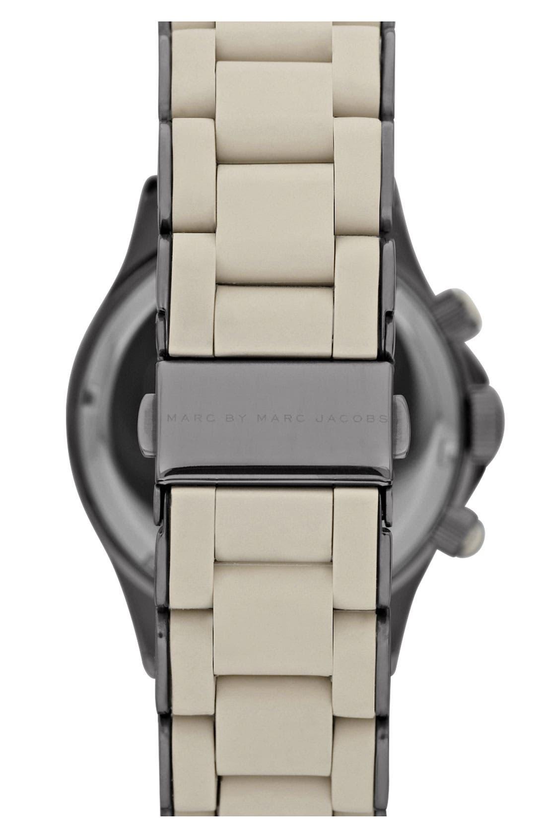 'Rock' Chronograph Silicone Bracelet Watch, 40mm,                             Alternate thumbnail 24, color,