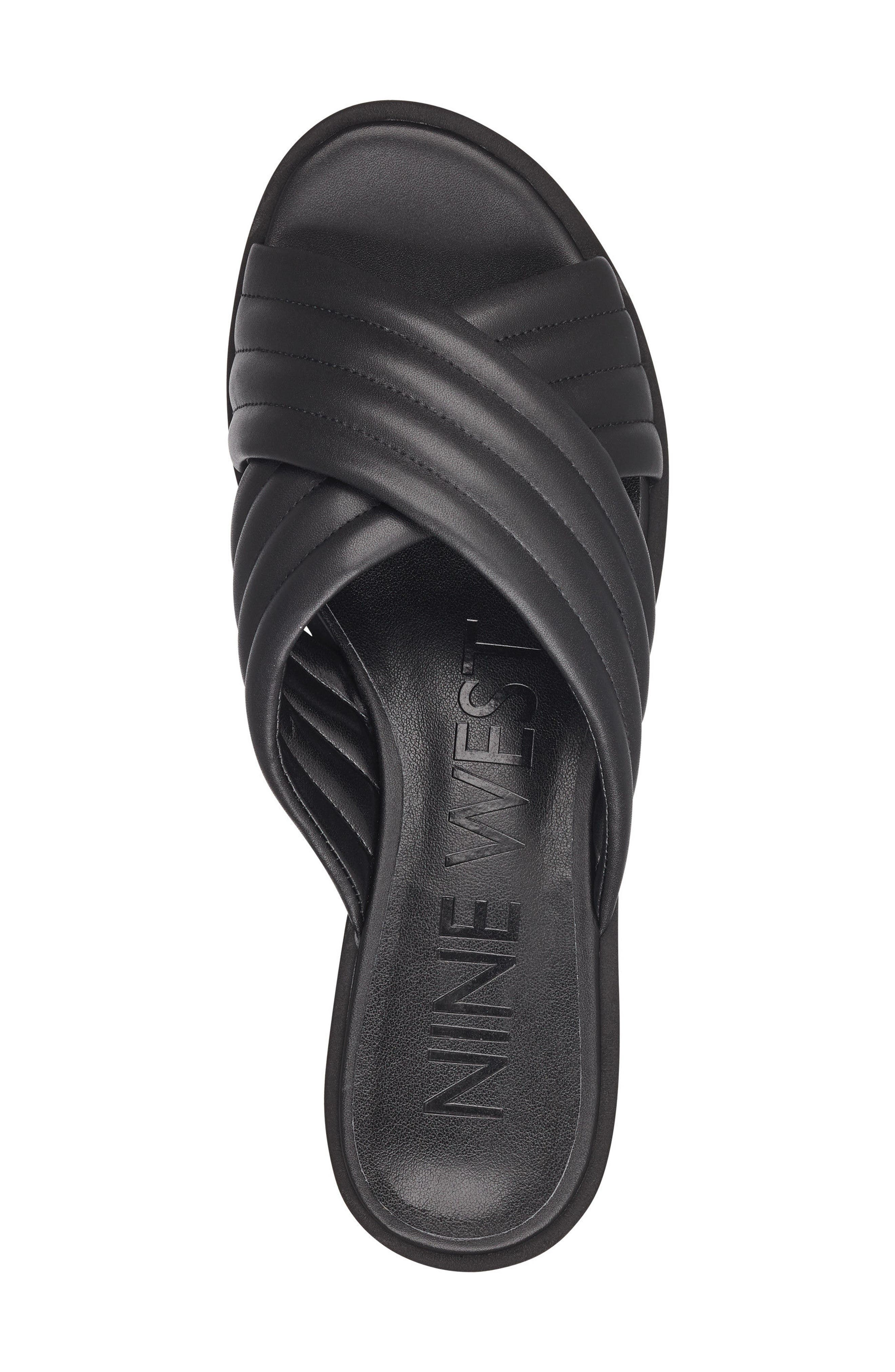 Zonita Platform Slide Sandal,                             Alternate thumbnail 5, color,                             001