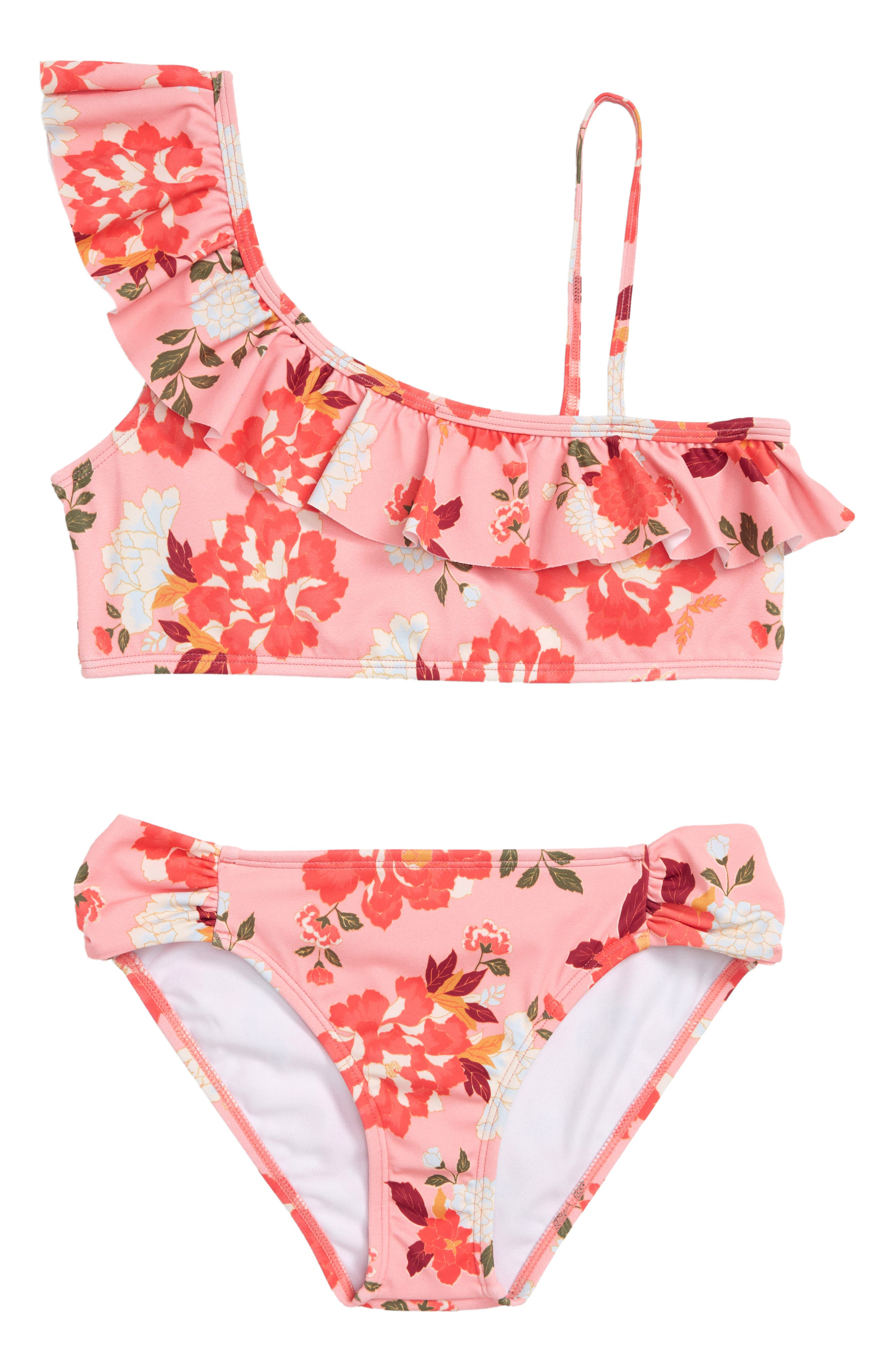 All Along Ruffle Two-Piece Swimsuit,                             Main thumbnail 1, color,                             660