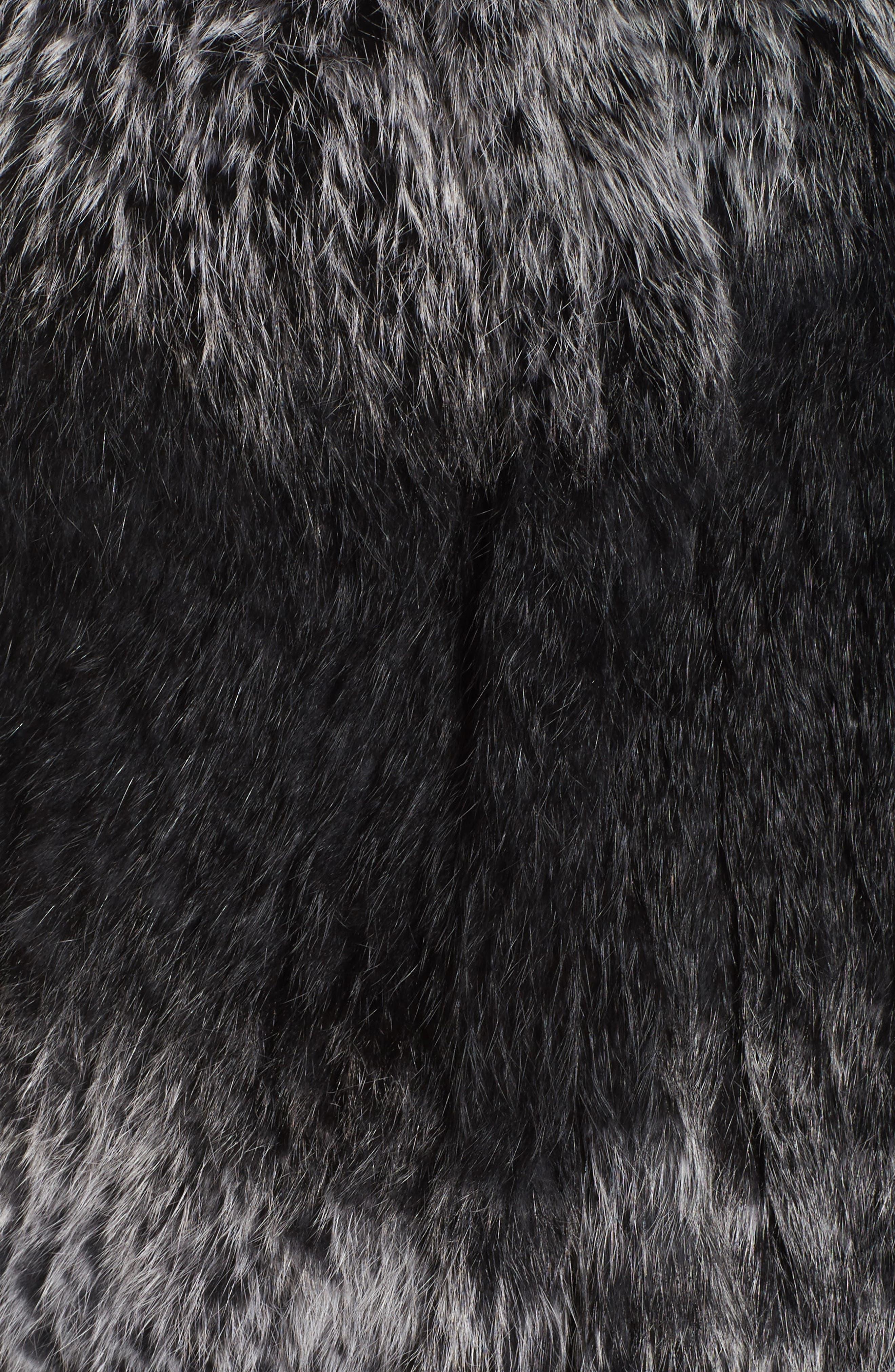 Genuine Rabbit Fur Vest,                             Alternate thumbnail 6, color,