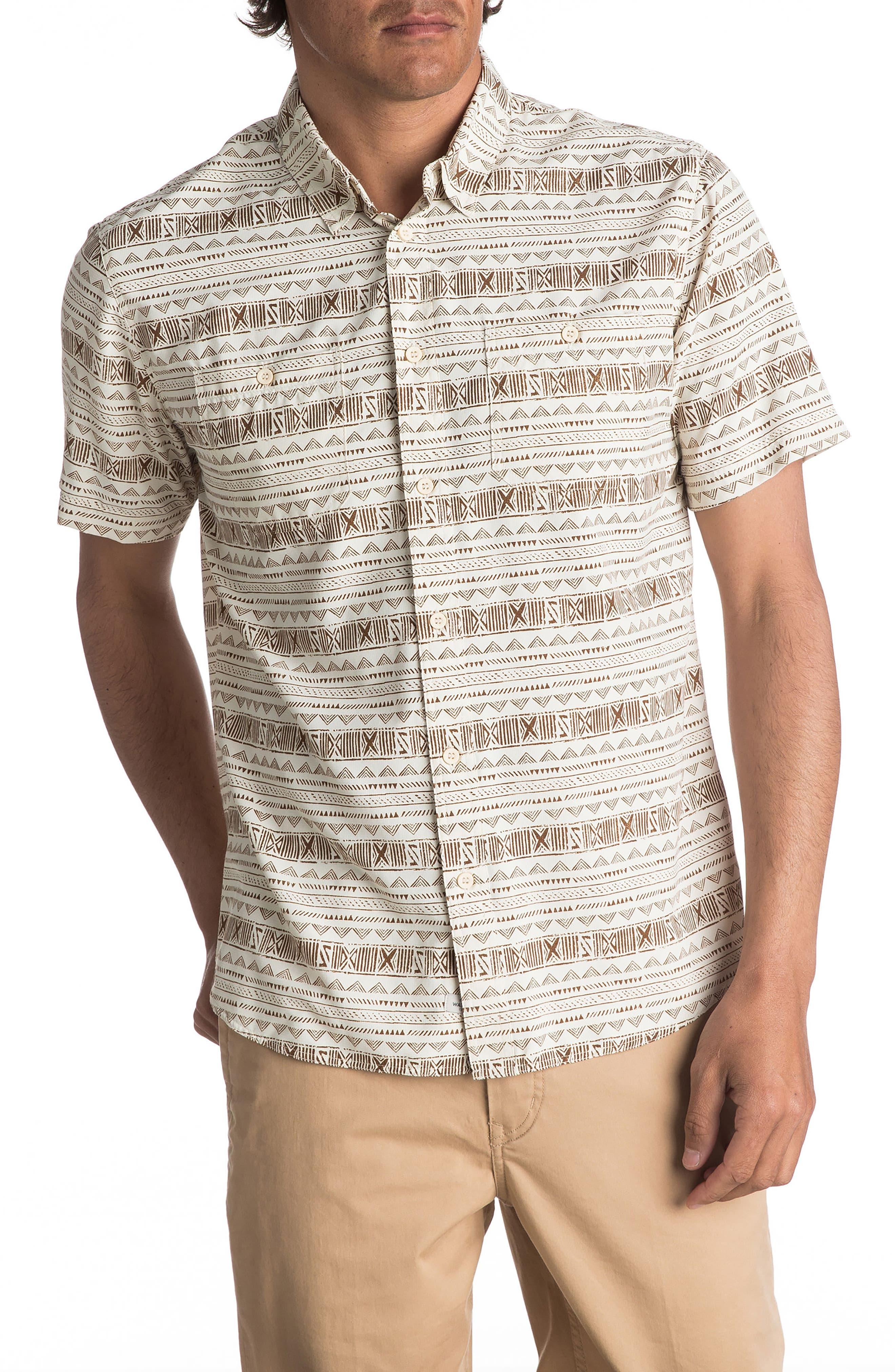 Wake Koro Geo Print Woven Shirt,                             Main thumbnail 2, color,