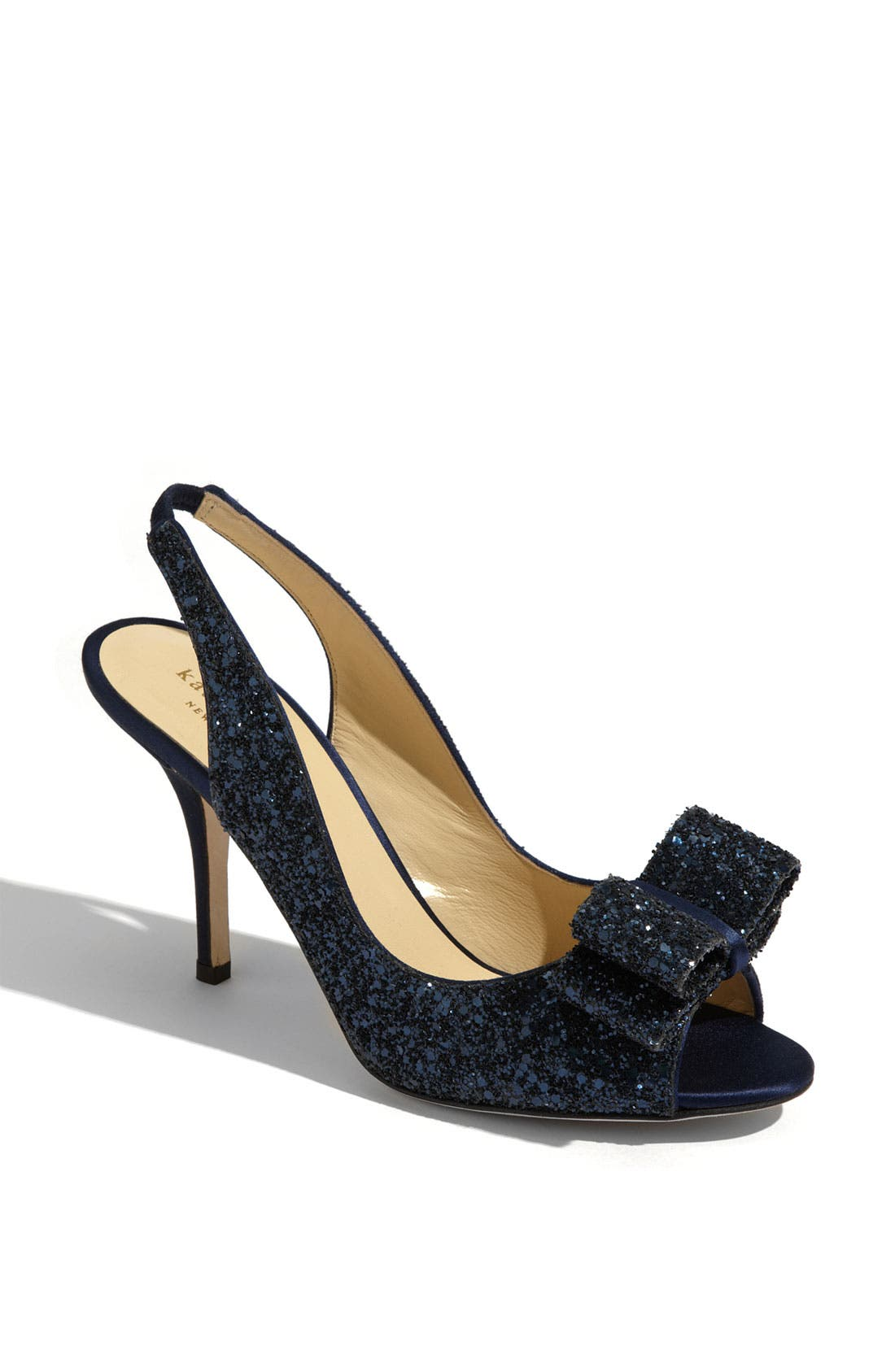 'charm' slingback pump,                         Main,                         color, NAVY GLITTER