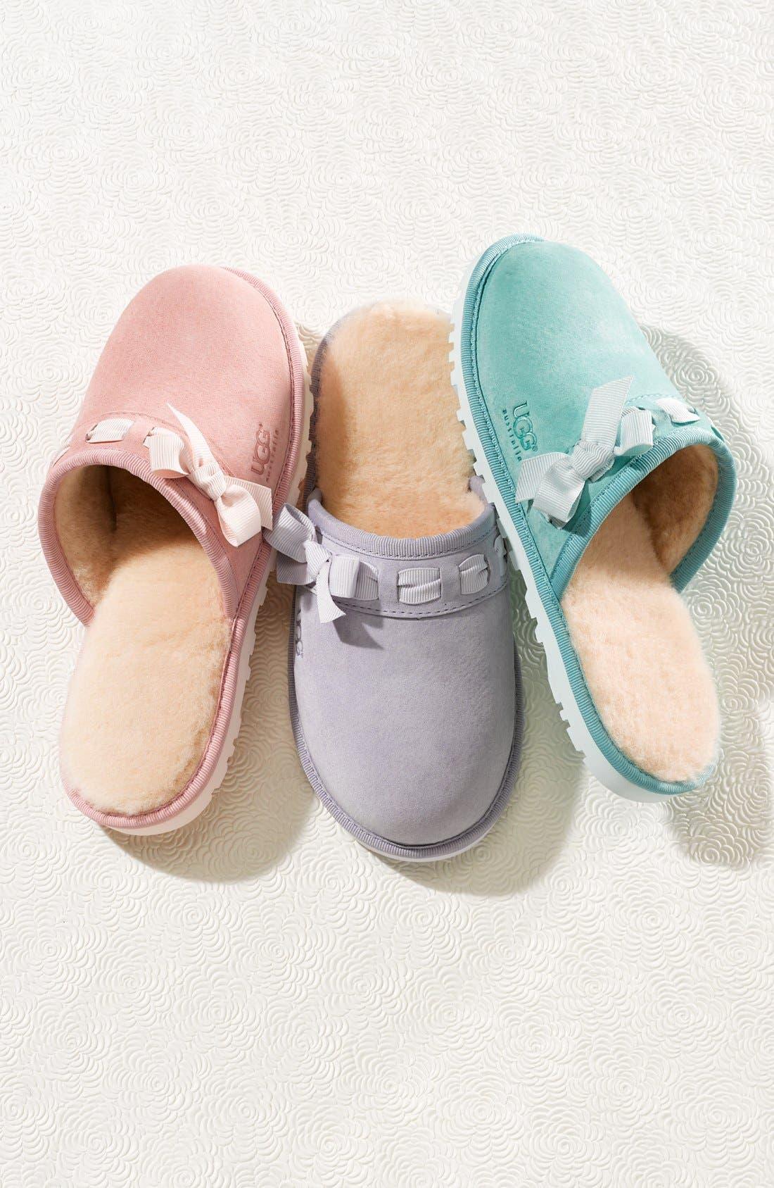 UGG<SUP>®</SUP> Australia 'Nala' Suede Clog Slipper, Main, color, 001