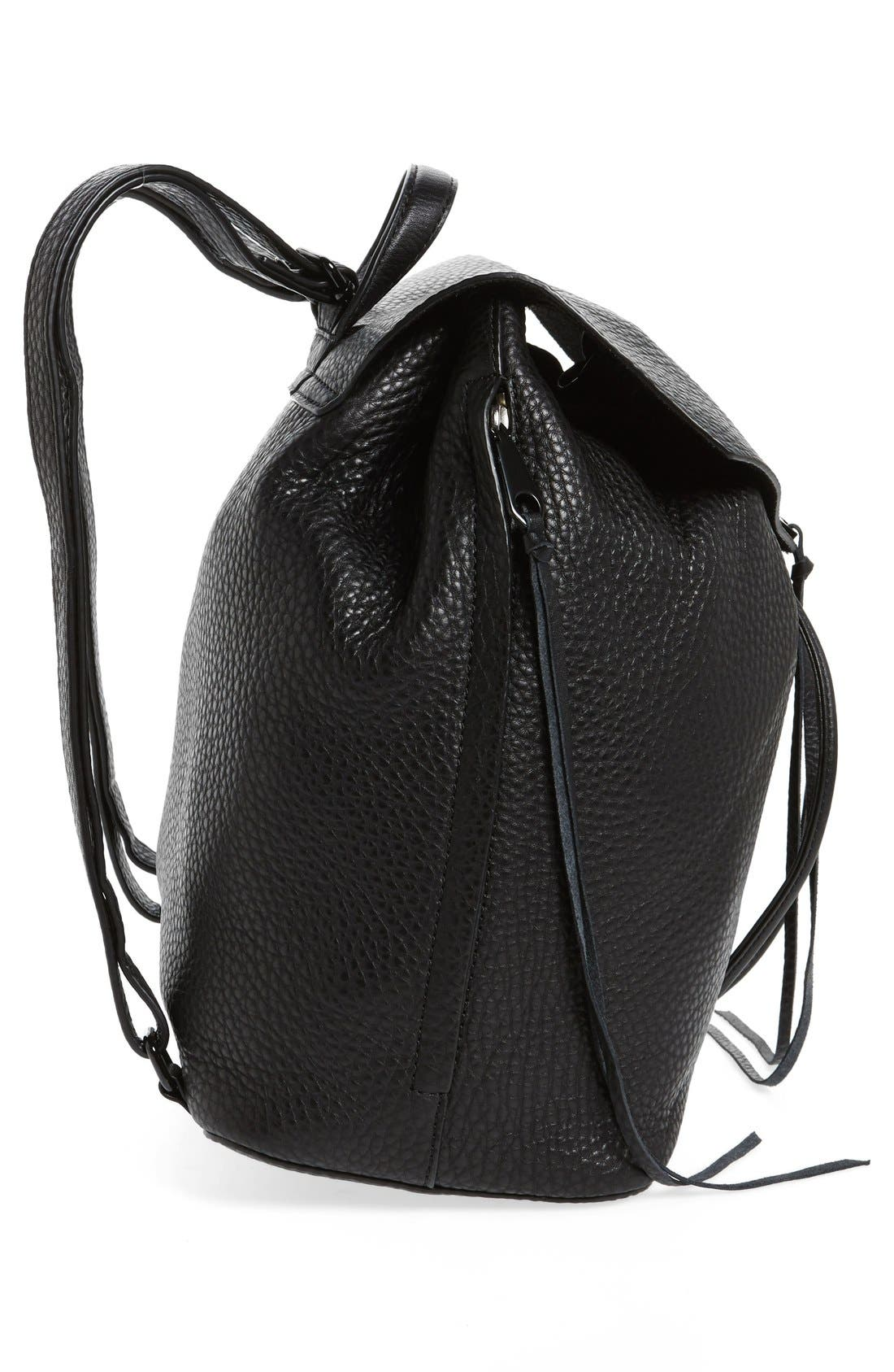 Darren Leather Backpack,                             Alternate thumbnail 5, color,                             001