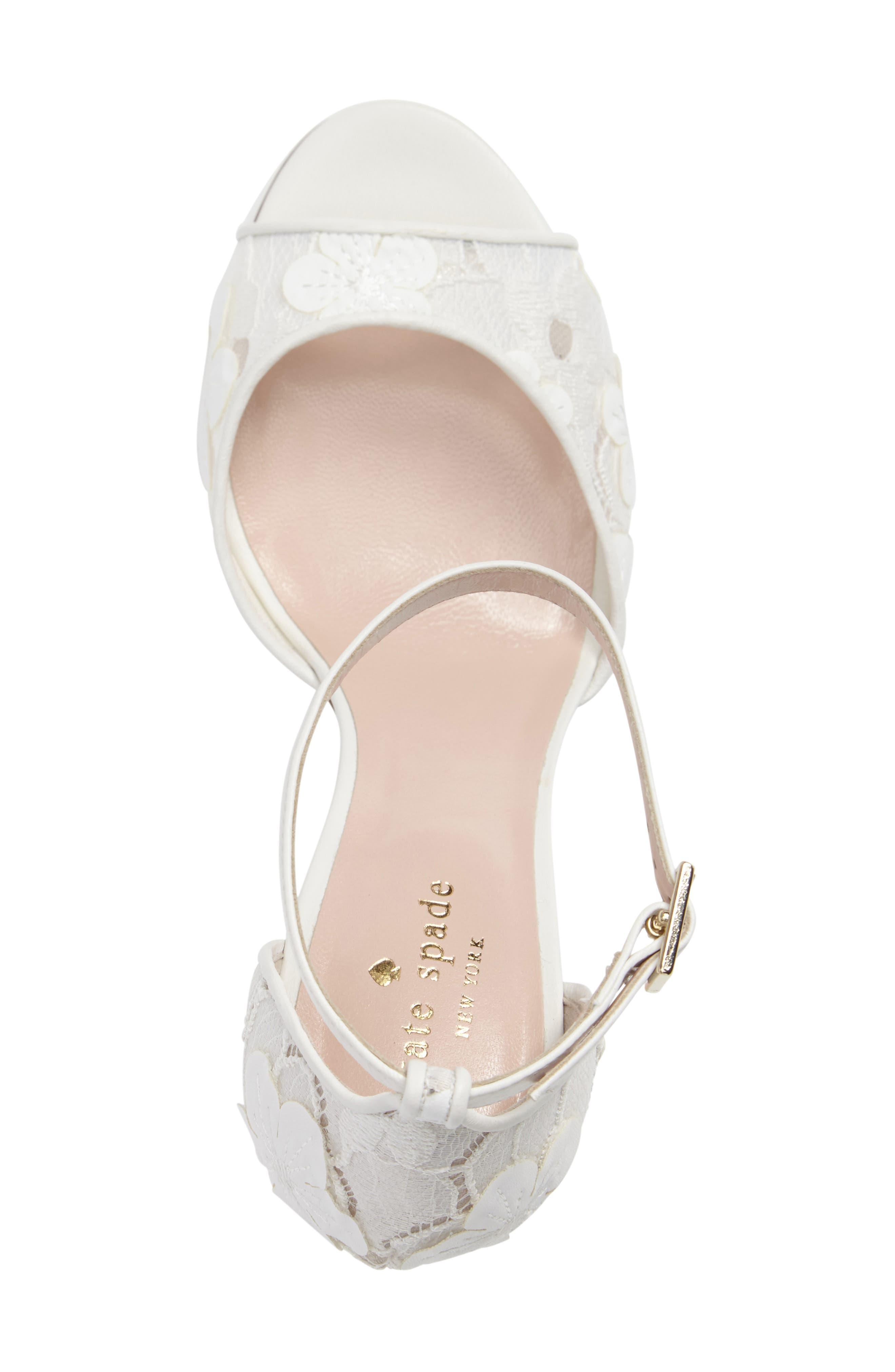 ideline floral lace sandal,                             Alternate thumbnail 4, color,                             112