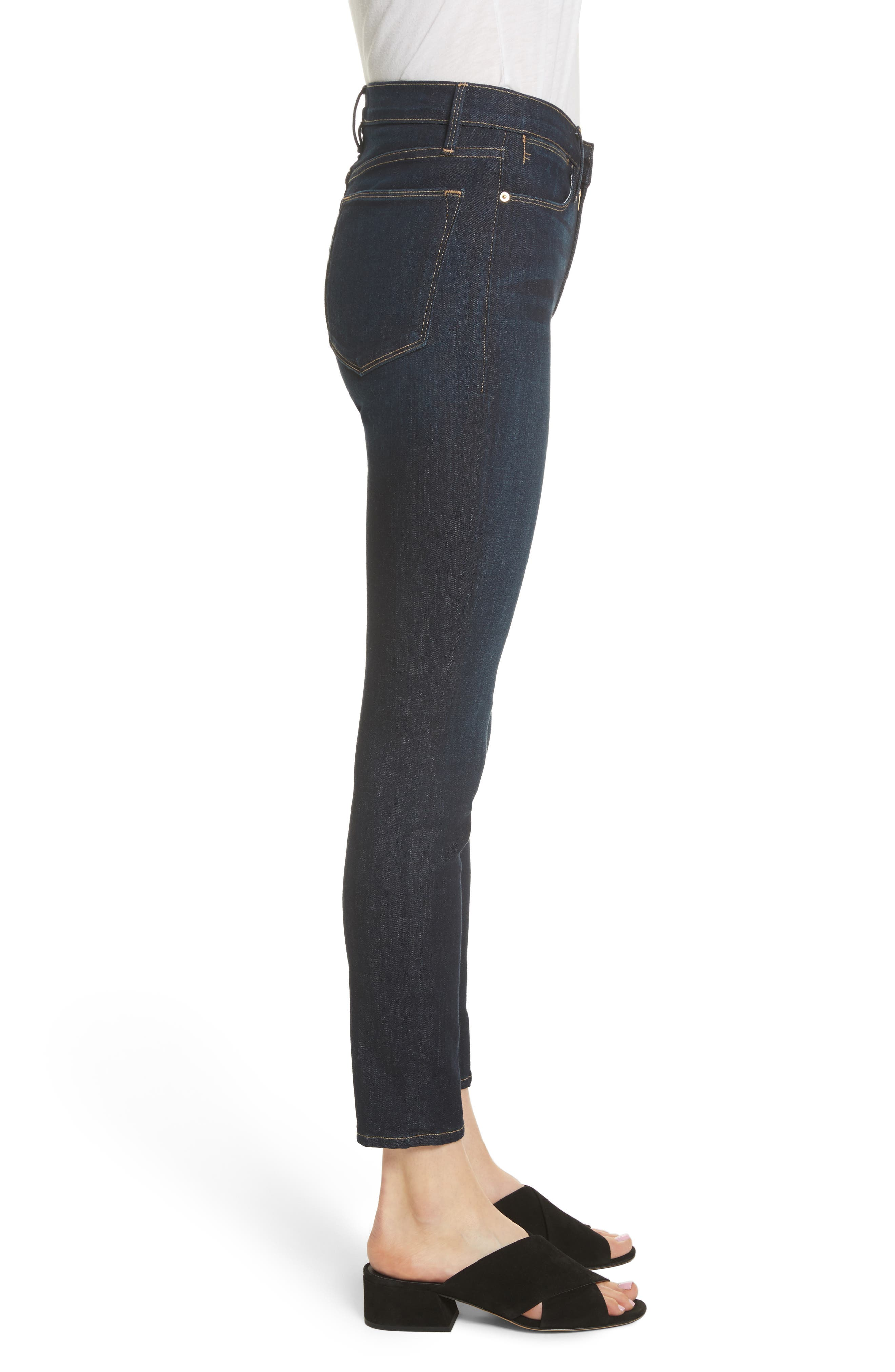 Le High Ankle Skinny Jeans,                             Alternate thumbnail 3, color,                             DAME