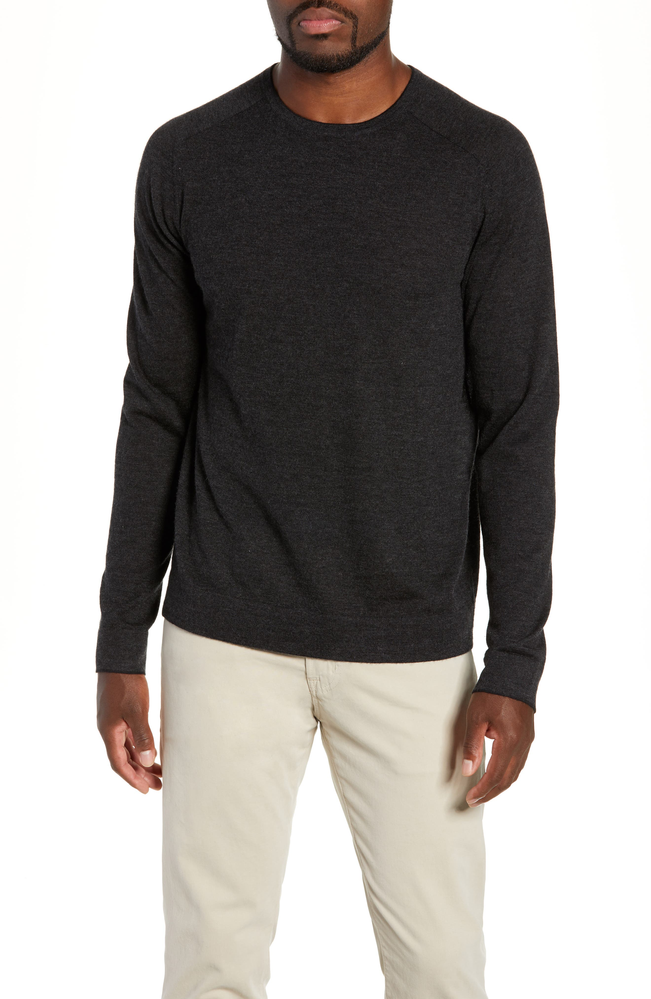 NORDSTROM SIGNATURE,                             Cashmere Crewneck Sweater,                             Main thumbnail 1, color,                             030