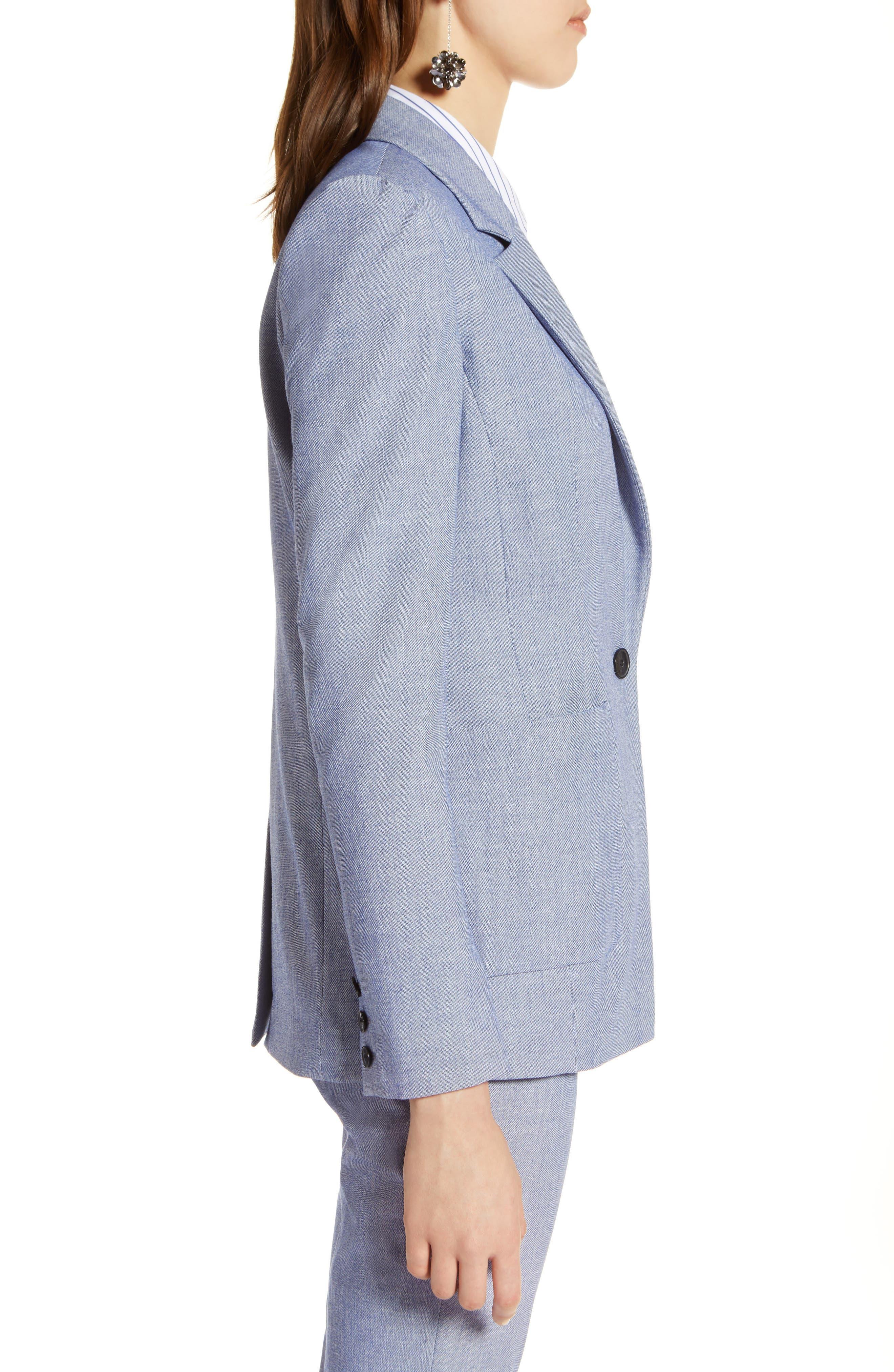 Stretch Woven Suit Blazer,                             Alternate thumbnail 3, color,                             400
