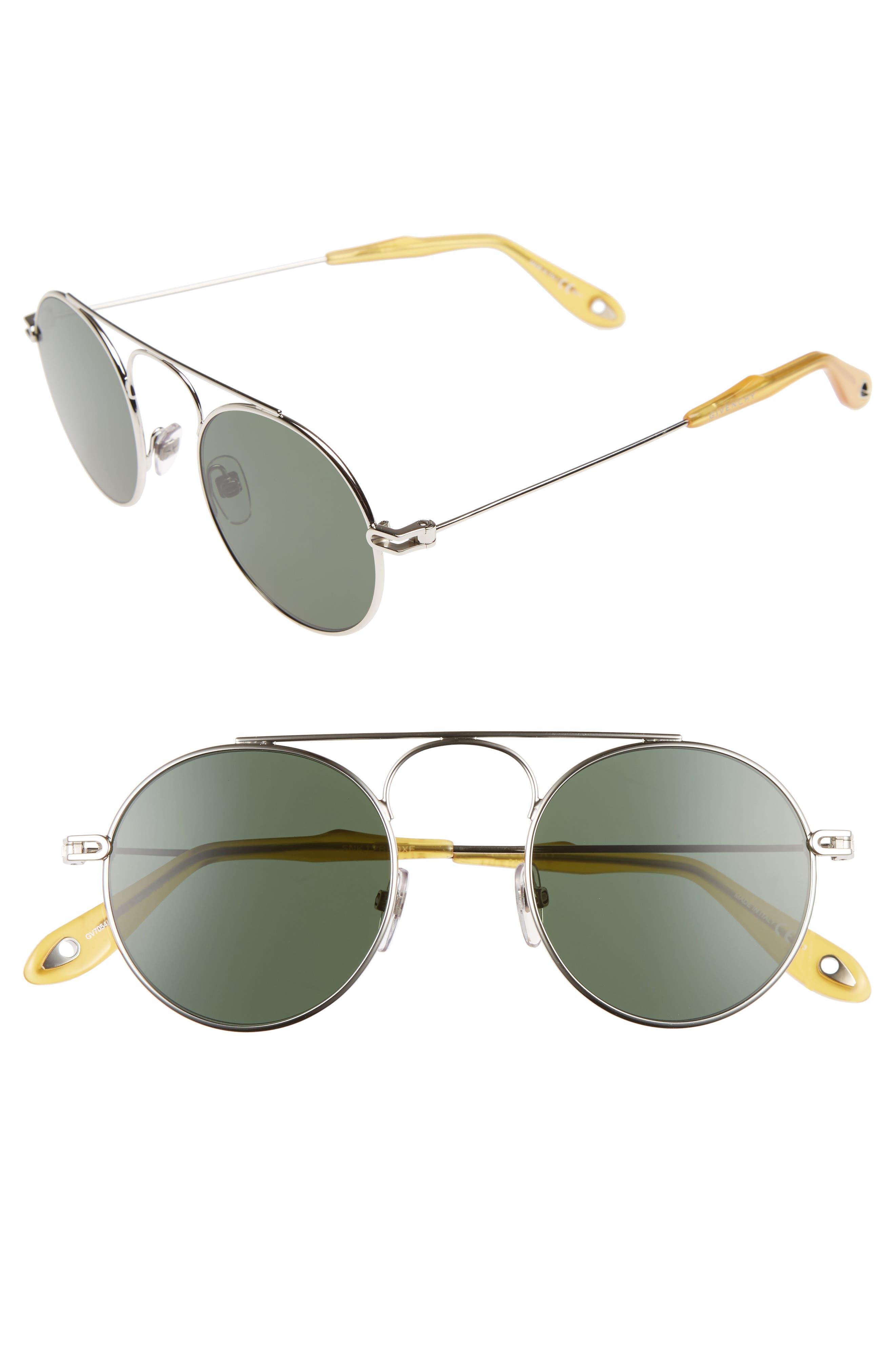 48mm Round Sunglasses,                             Main thumbnail 1, color,                             043