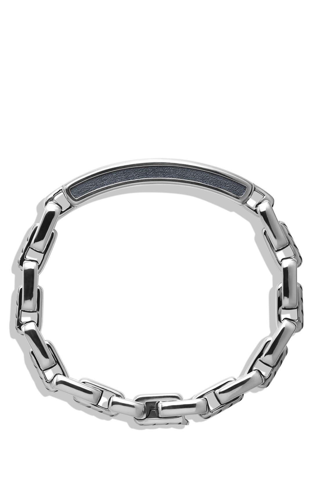 'Modern Cable' ID Bracelet,                             Alternate thumbnail 2, color,                             SILVER