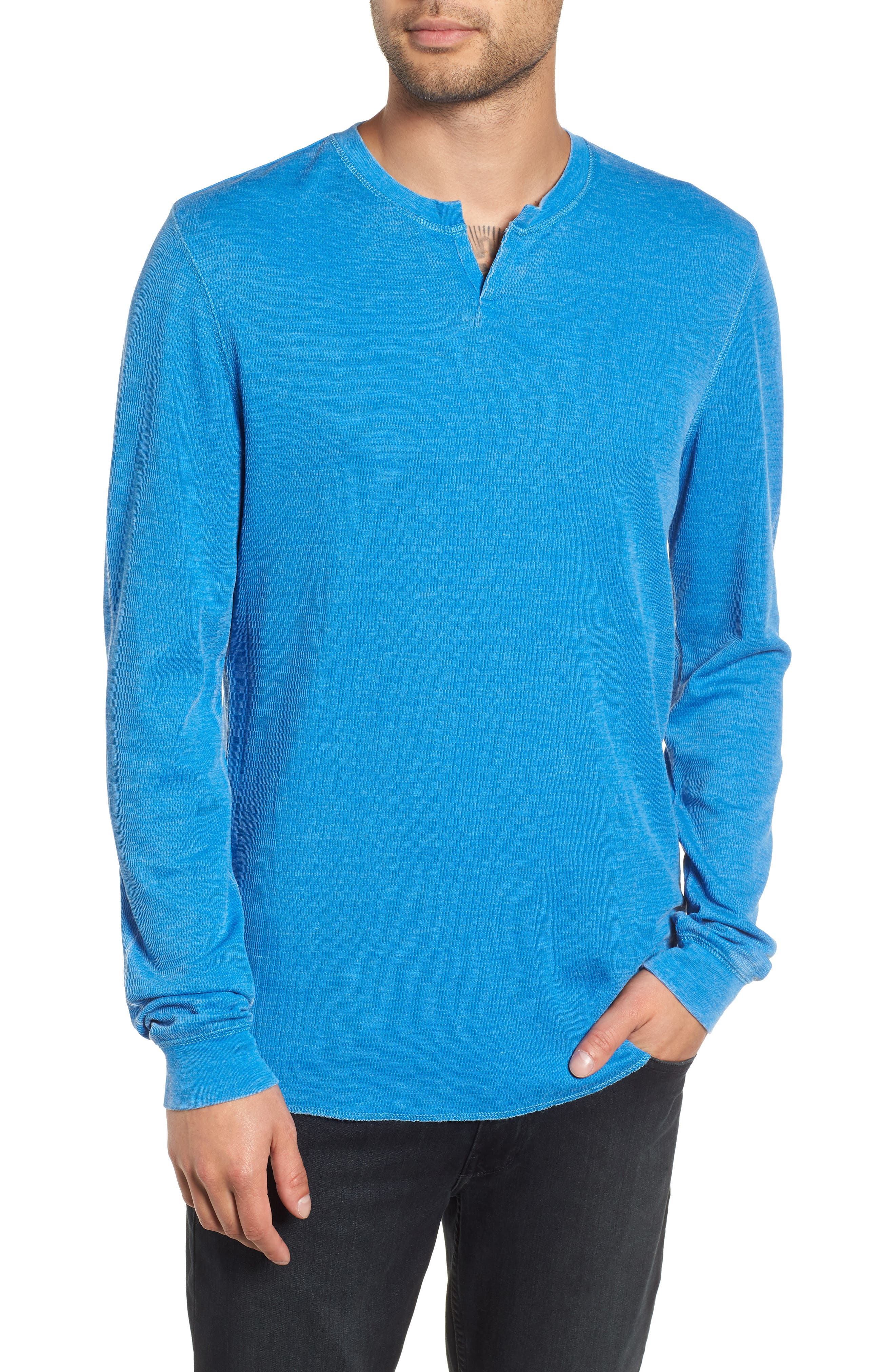 Notch Neck Thermal T-Shirt,                             Main thumbnail 5, color,