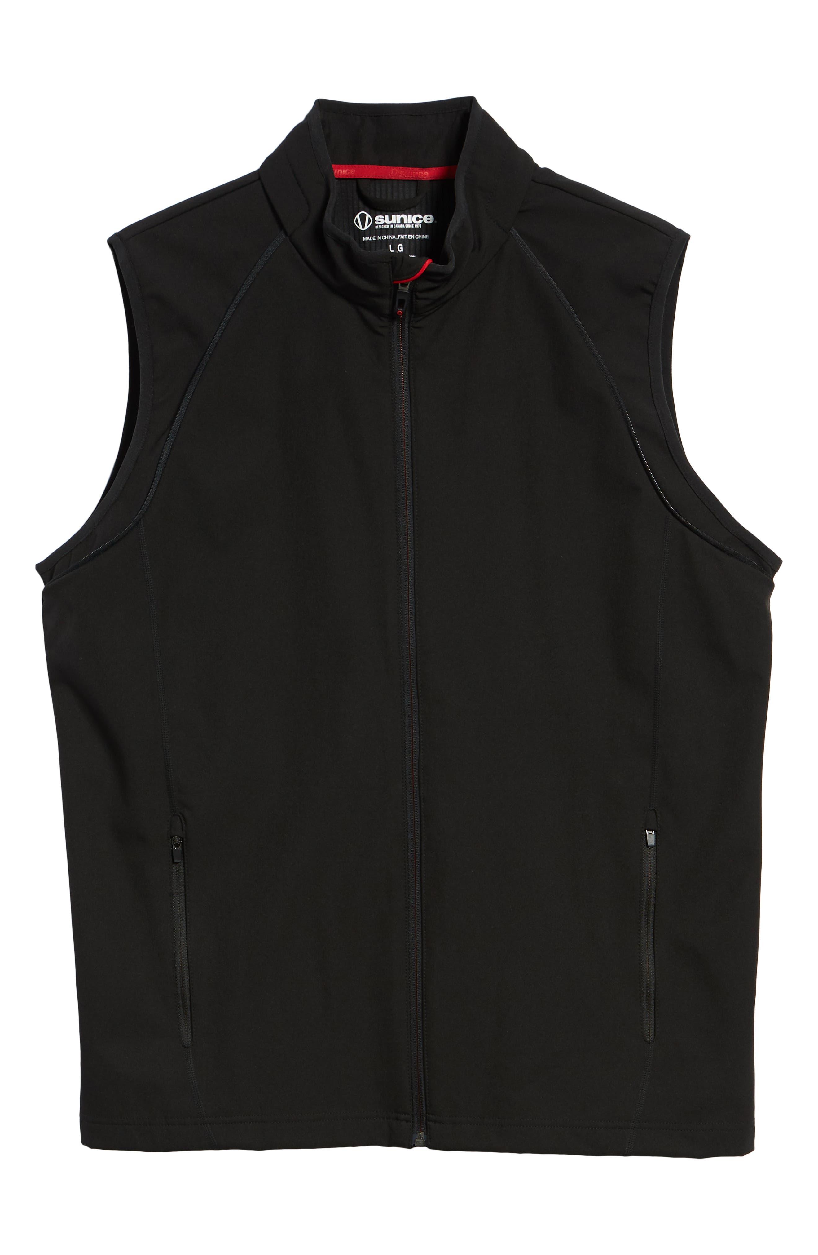 Hanson Water Repellent Convertible Jacket,                             Alternate thumbnail 7, color,                             BLACK