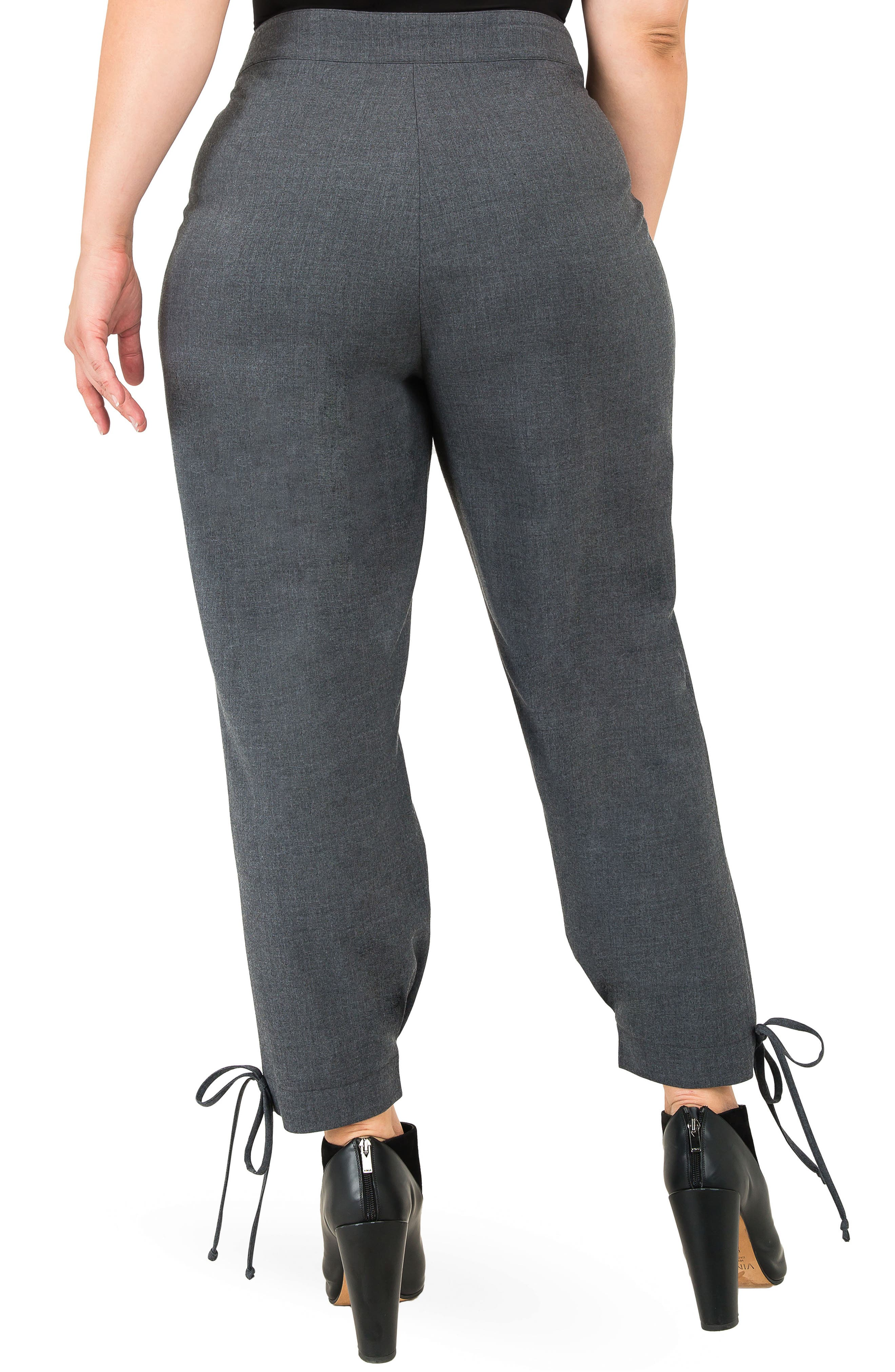 Robie Suiting Skinny Trousers,                             Alternate thumbnail 2, color,                             CHARCOAL