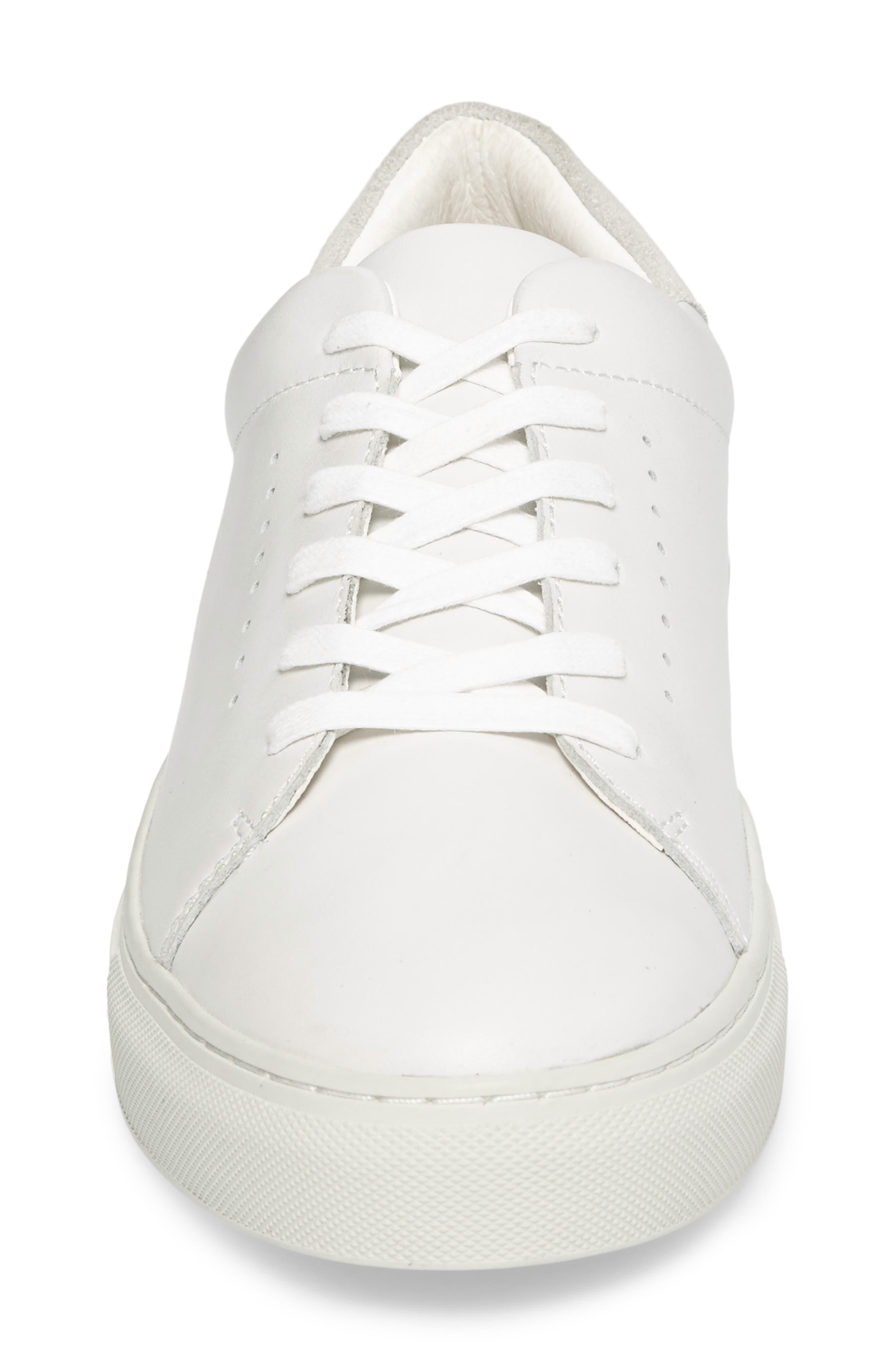 Desmond Sneaker,                             Alternate thumbnail 4, color,                             WHITE LEATHER
