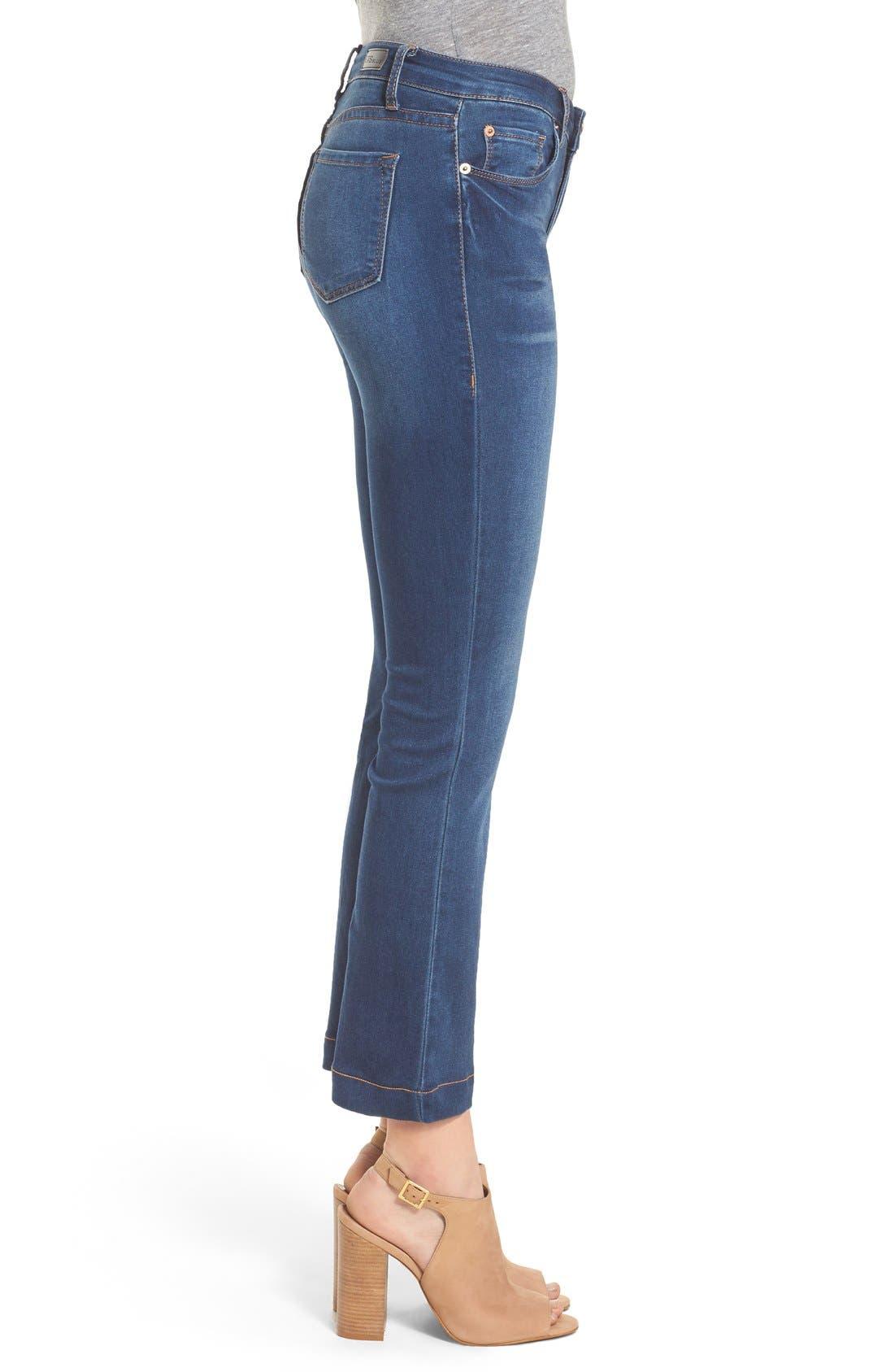Crop Flare Jeans,                             Alternate thumbnail 5, color,                             400