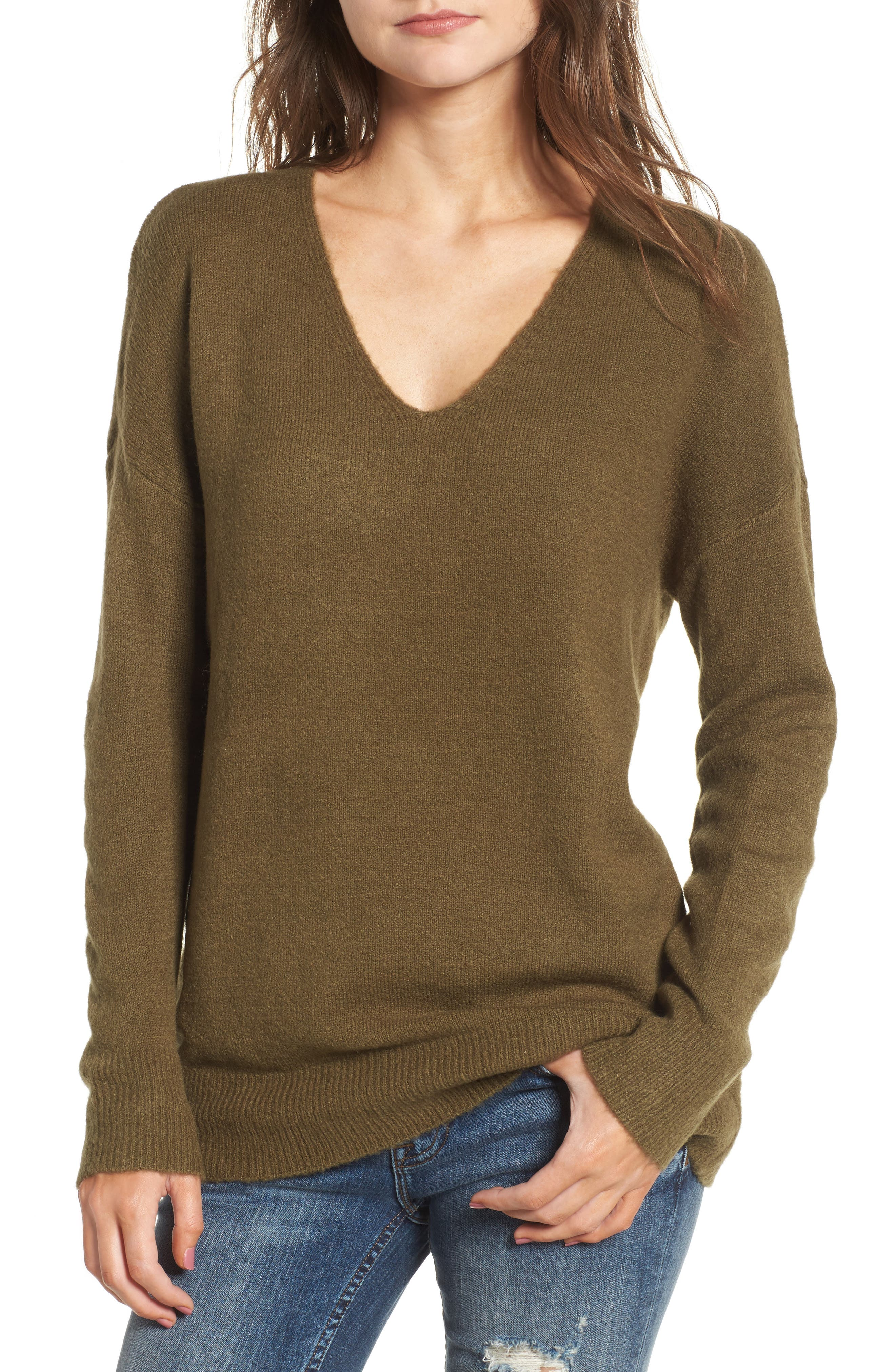 DREAMERS BY DEBUT,                             V-Neck Sweater,                             Main thumbnail 1, color,                             310