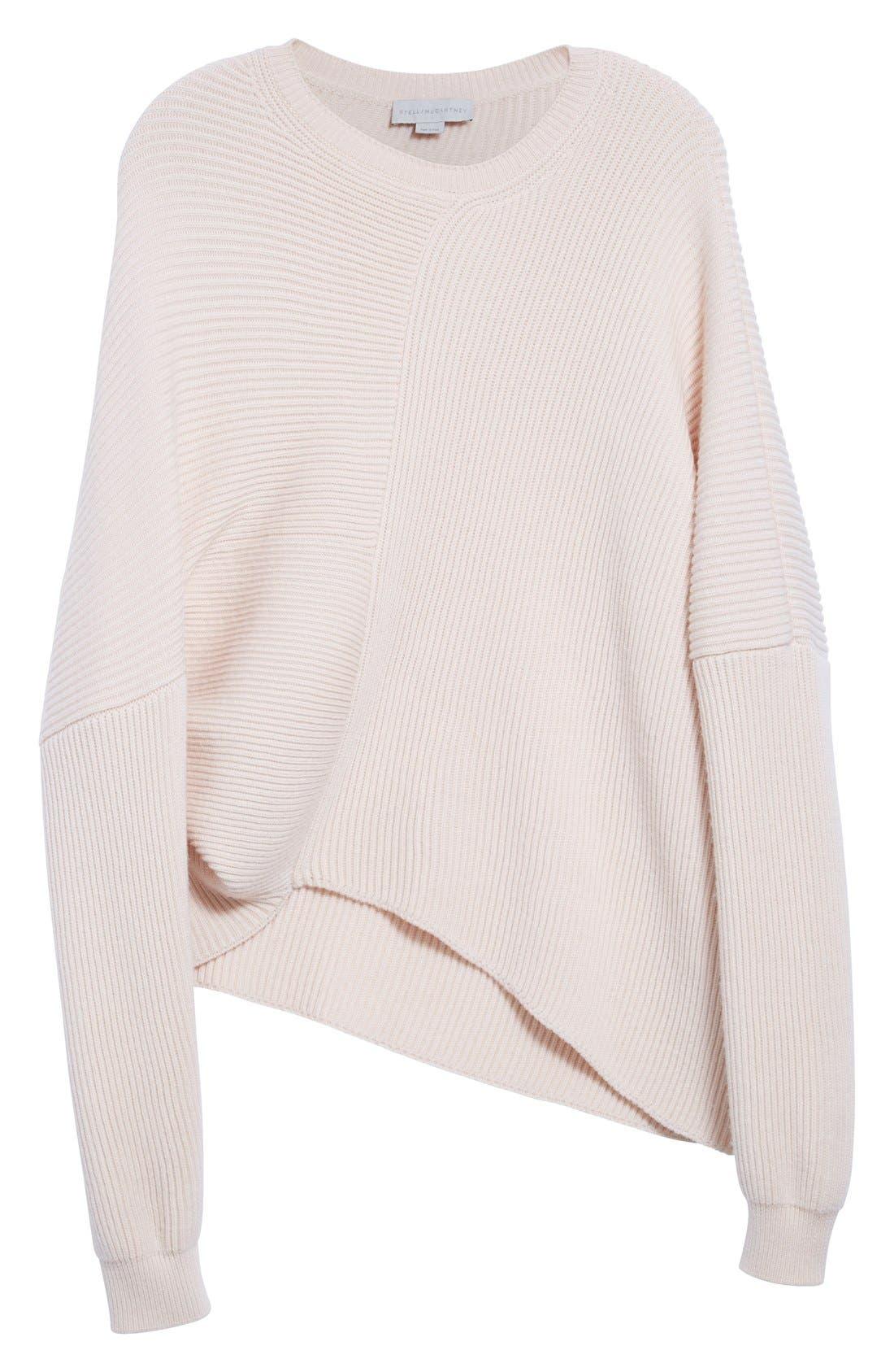 Asymmetrical Wool Sweater,                             Alternate thumbnail 4, color,                             101