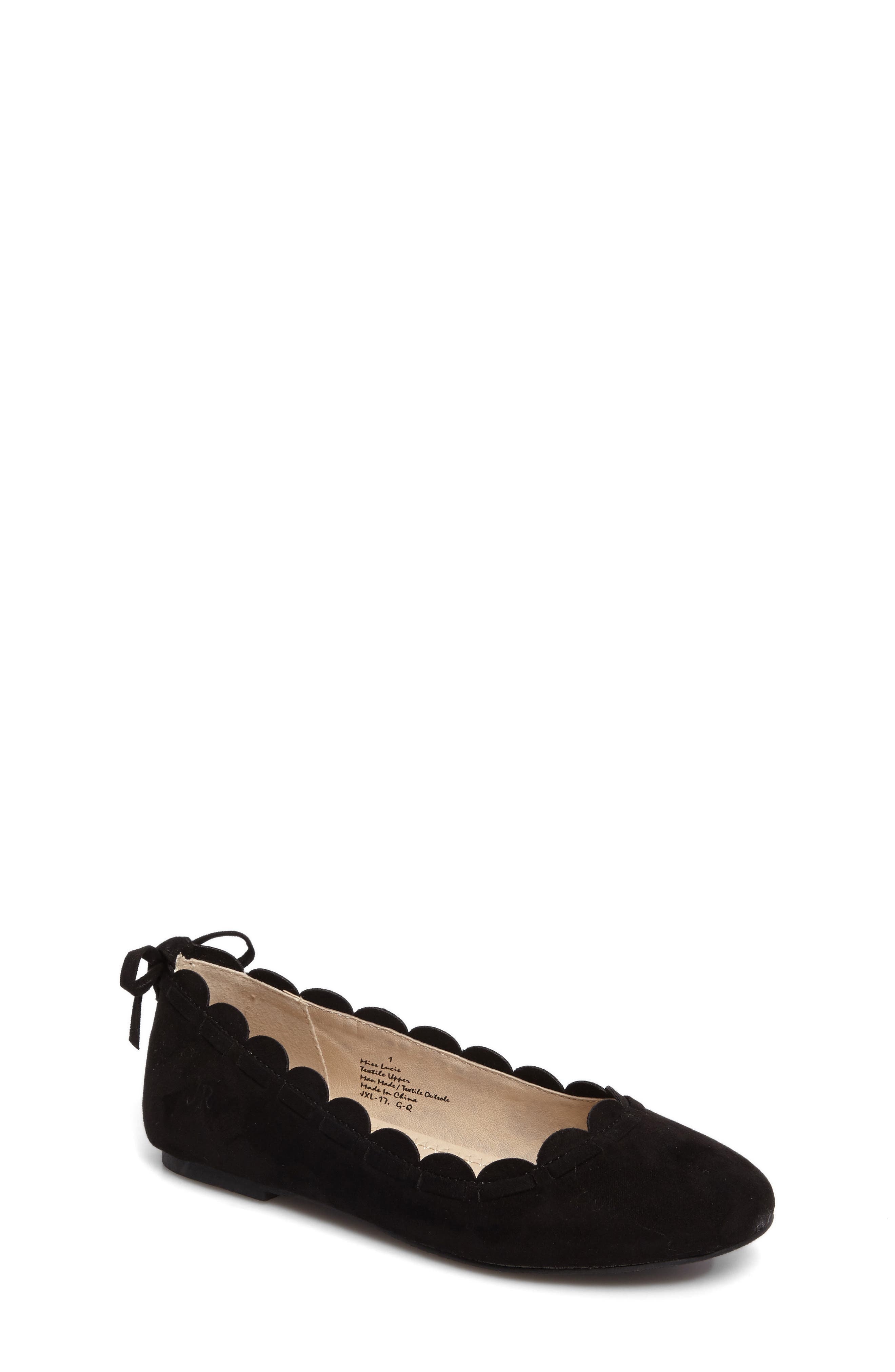 Miss Lucie Scalloped Ballet Flat,                         Main,                         color, 001